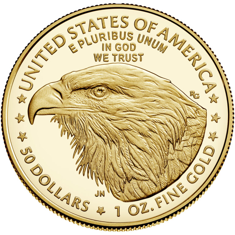 2021 American Eagle Gold One Ounce Proof Coin Reverse New Design