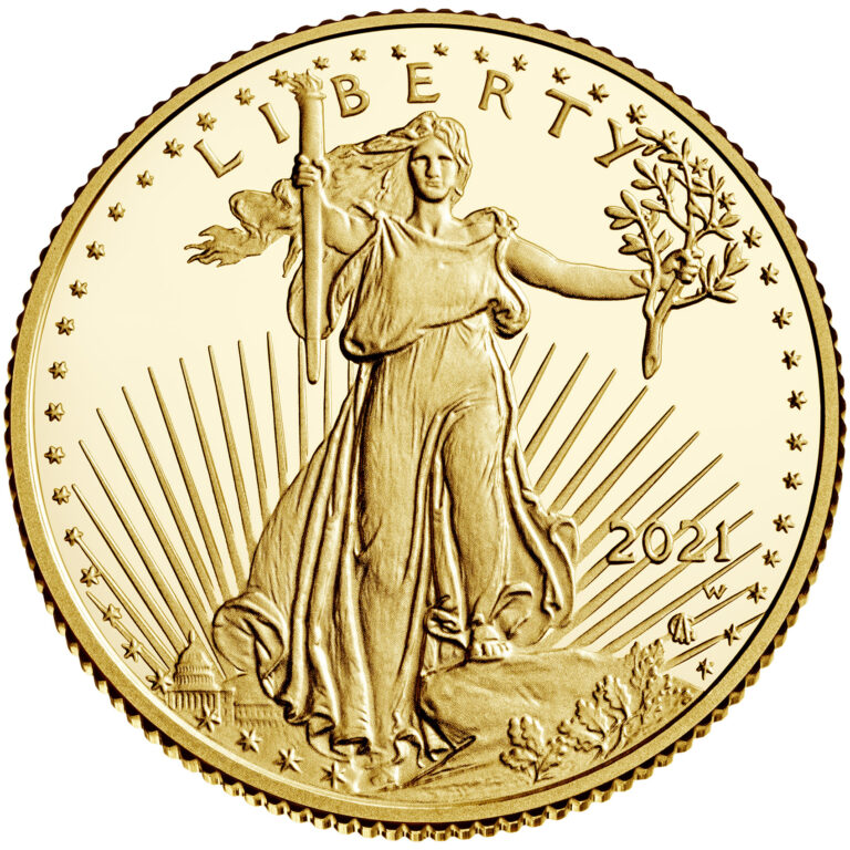2021 American Eagle Gold Quarter Ounce Proof Coin Obverse New Design