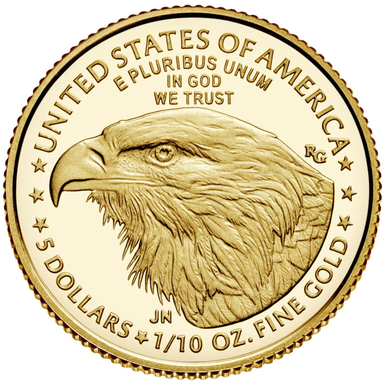 2021 American Eagle Gold Tenth Ounce Proof Coin Reverse New Design