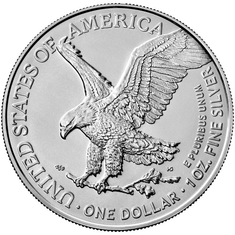 2021 American Eagle Silver One Ounce Bullion Coin Reverse New Design