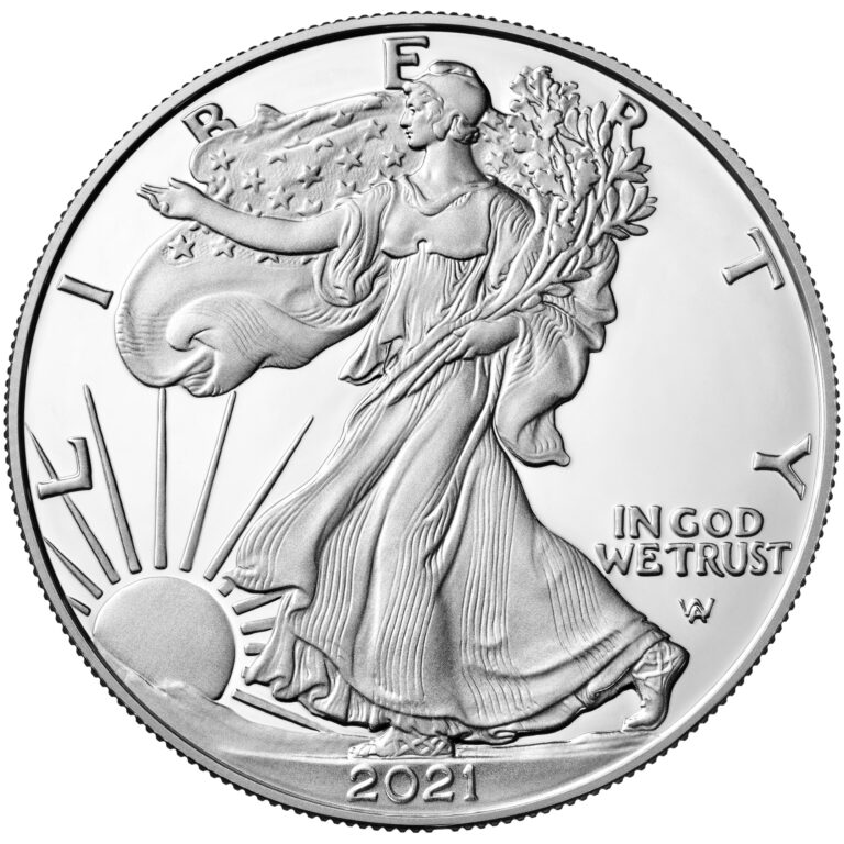 2021 American Eagle Silver One Ounce Proof Coin Obverse New Design