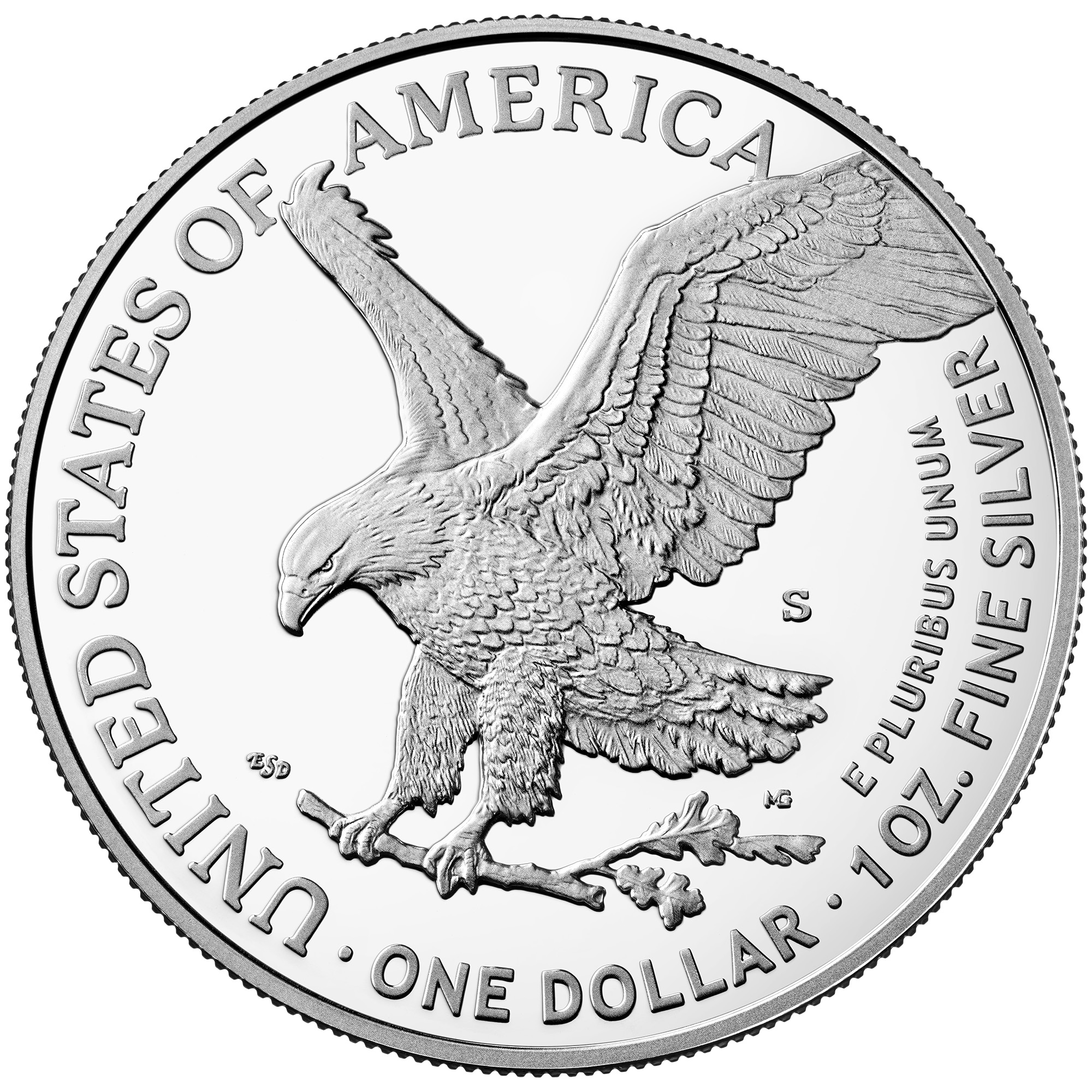 2021 American Eagle Silver One Ounce Proof Coin Reverse San Francisco New Design