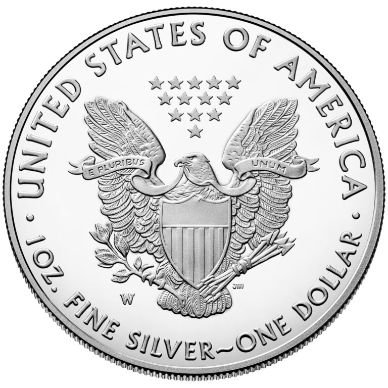 2021 American Eagle Silver One Ounce Proof Coin Reverse West Point Old Design