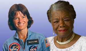 sally ride and maya angelou, american women quarters honorees