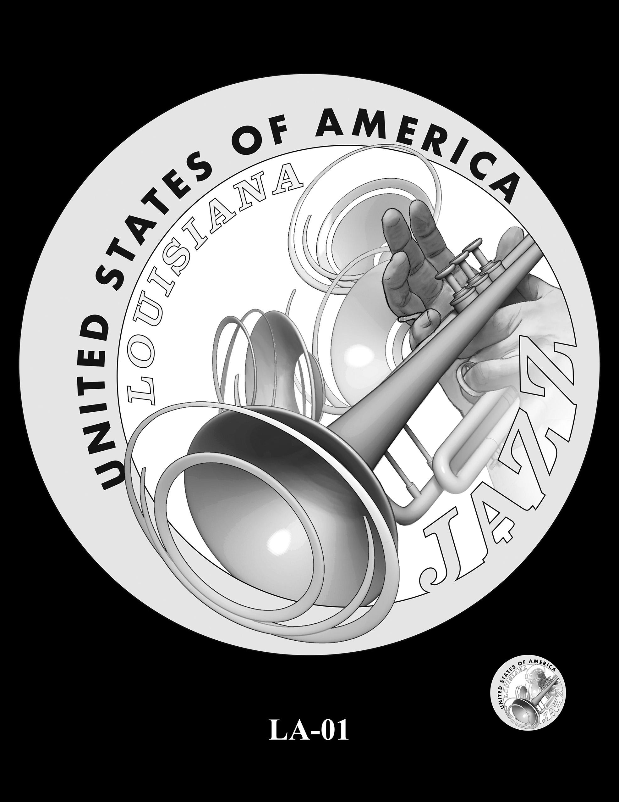 LA-01 -- 2023 American Innovation $1 Coin Program - Louisiana