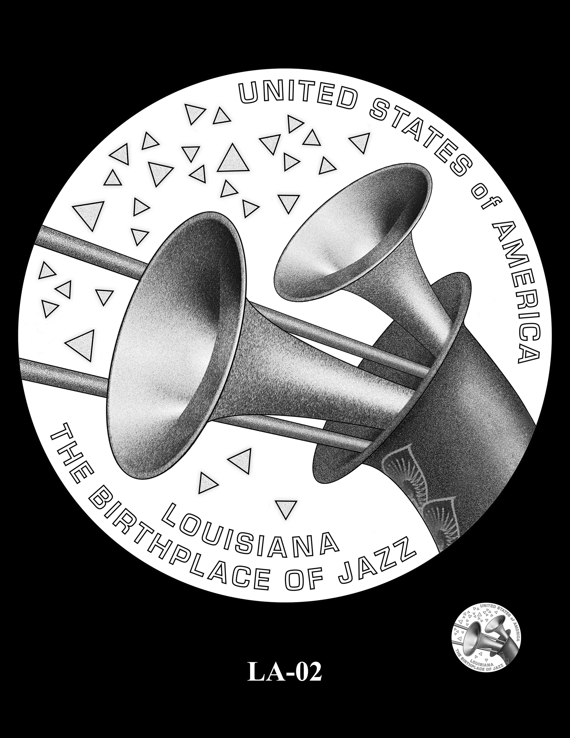 LA-02 -- 2023 American Innovation $1 Coin Program - Louisiana