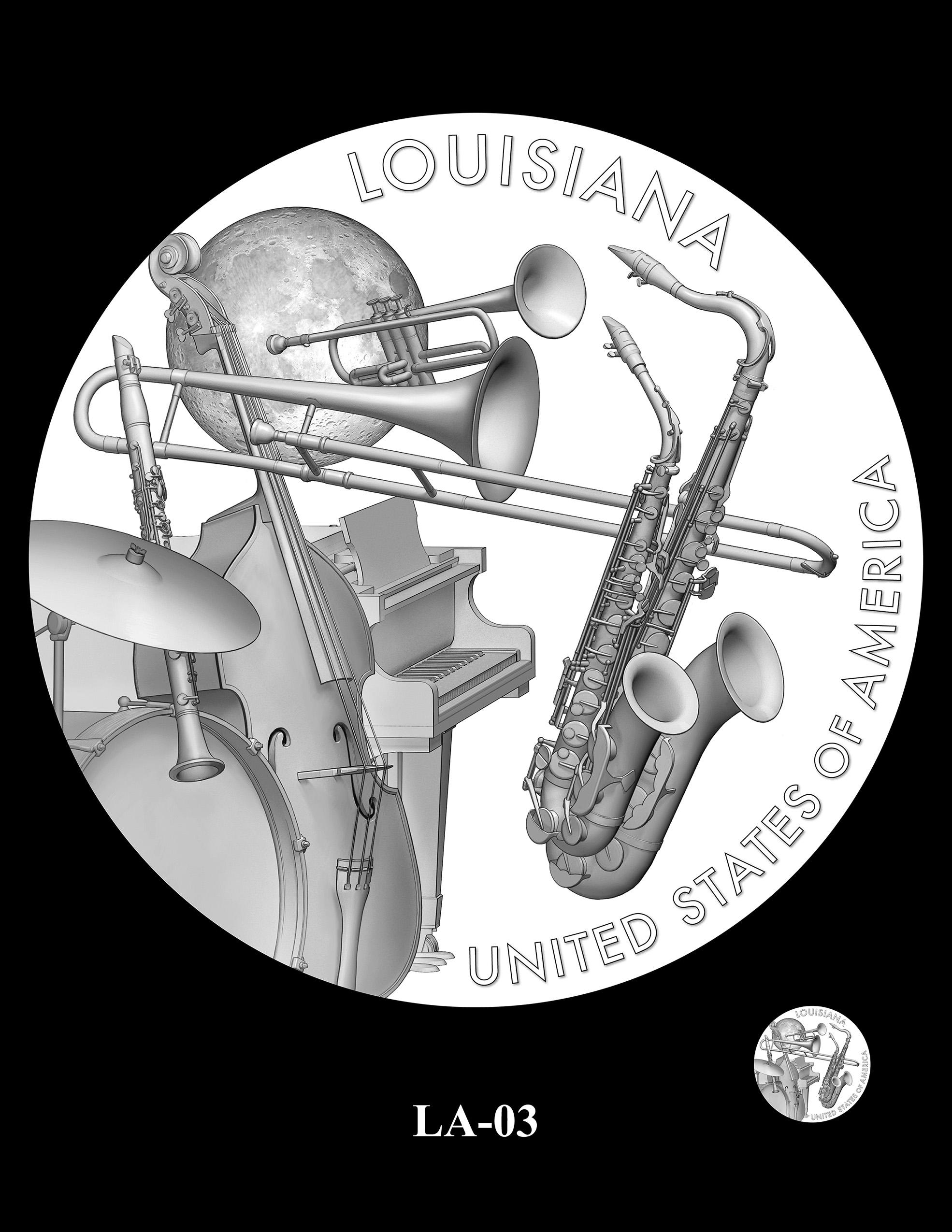 LA-03 -- 2023 American Innovation $1 Coin Program - Louisiana