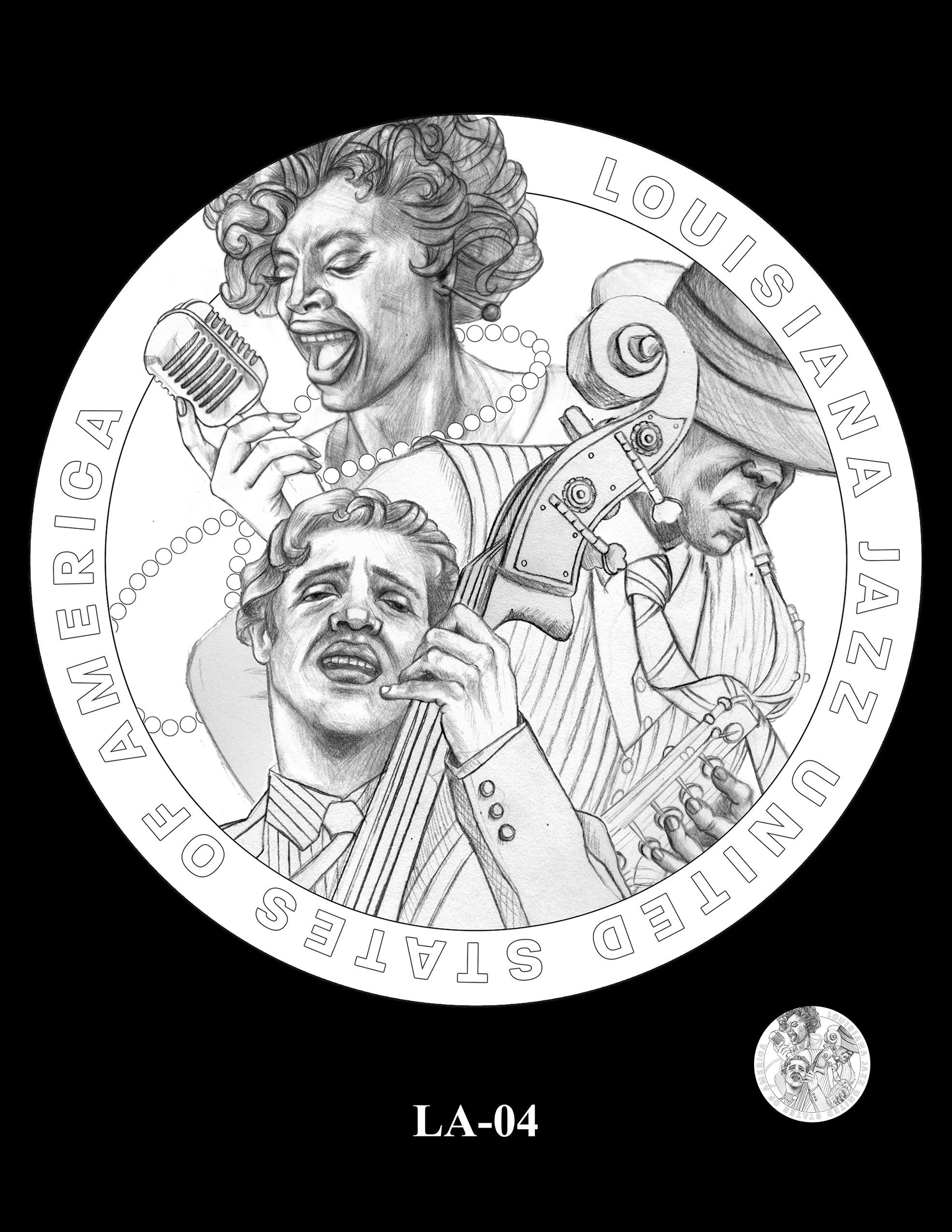 LA-04 -- 2023 American Innovation $1 Coin Program - Louisiana