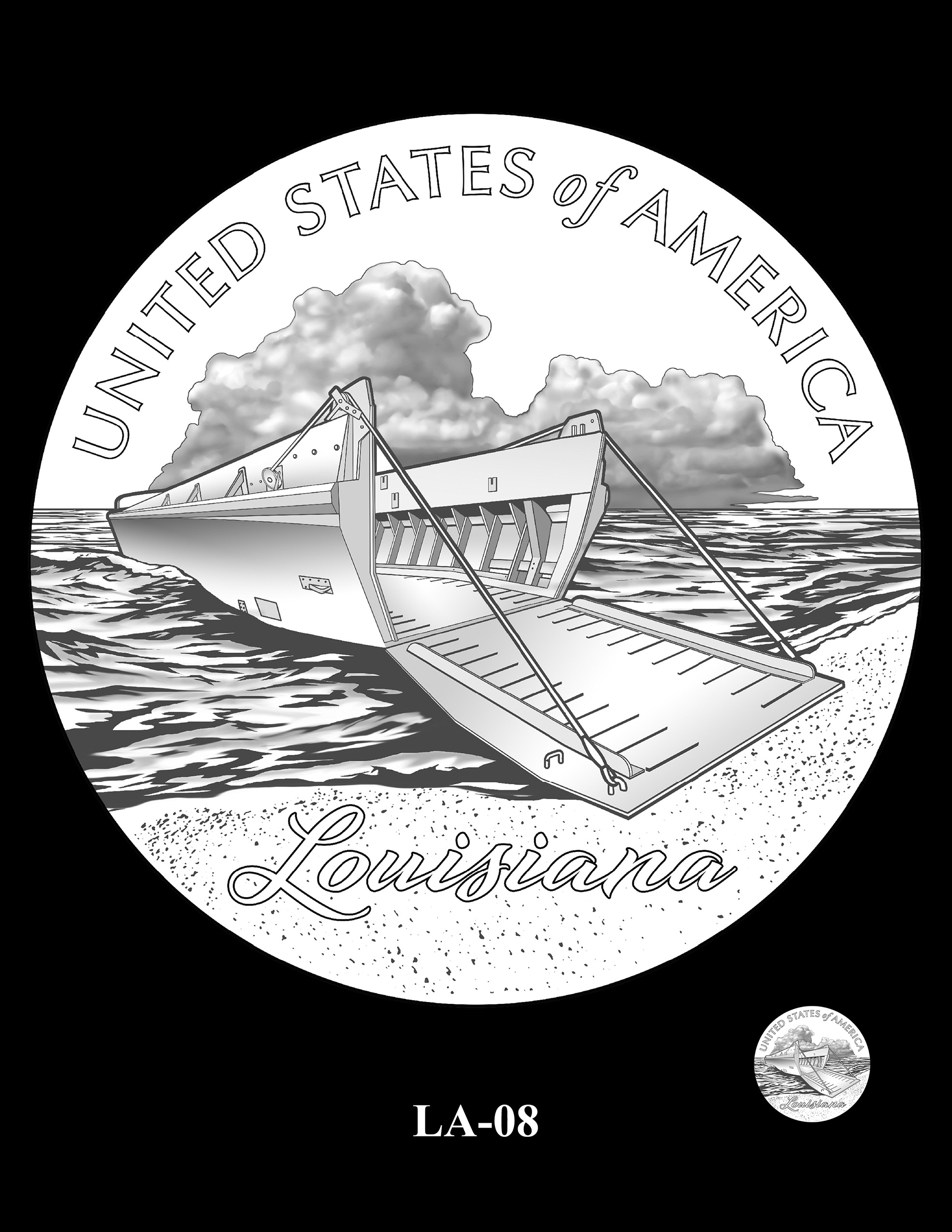 LA-08 -- 2023 American Innovation $1 Coin Program - Louisiana