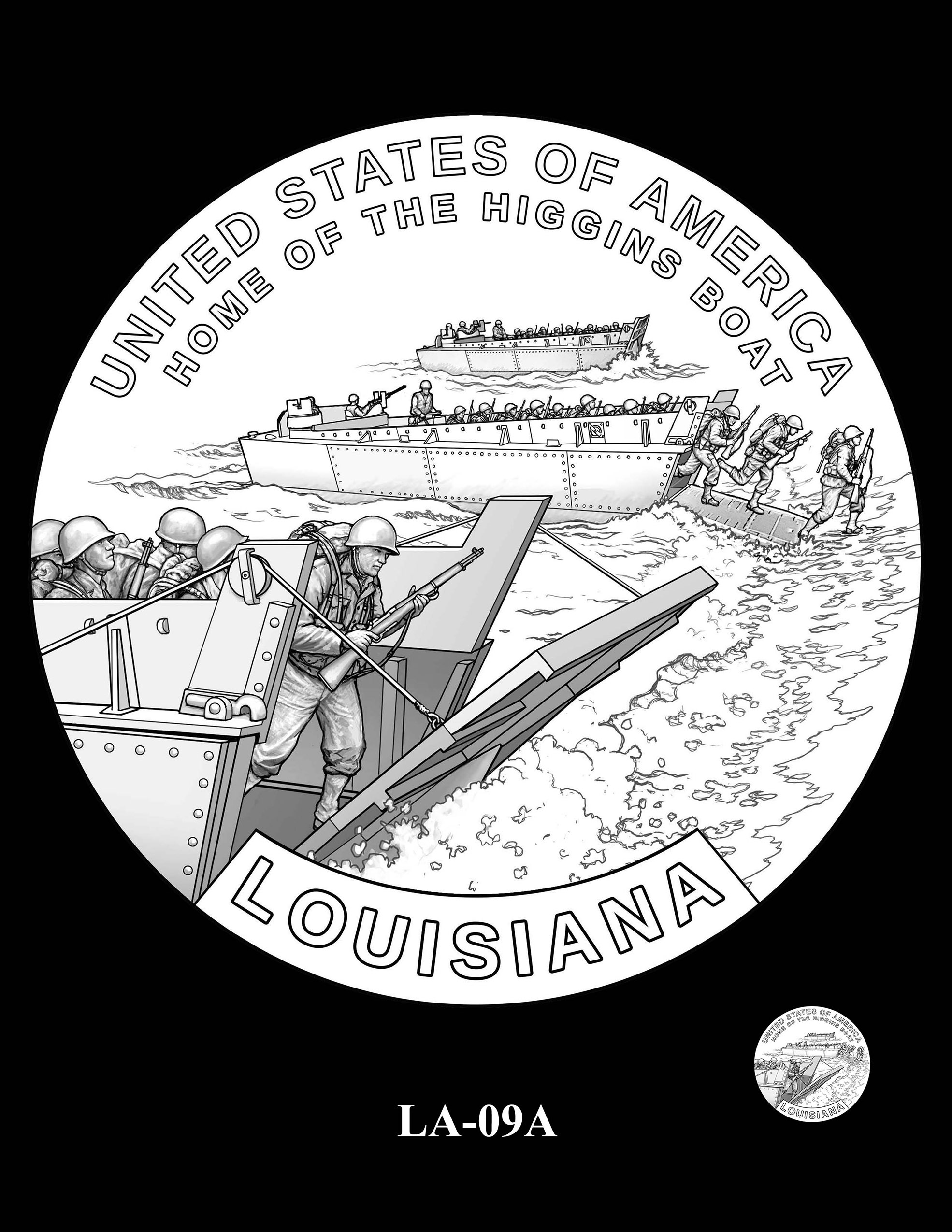 LA-09A -- 2023 American Innovation $1 Coin Program - Louisiana
