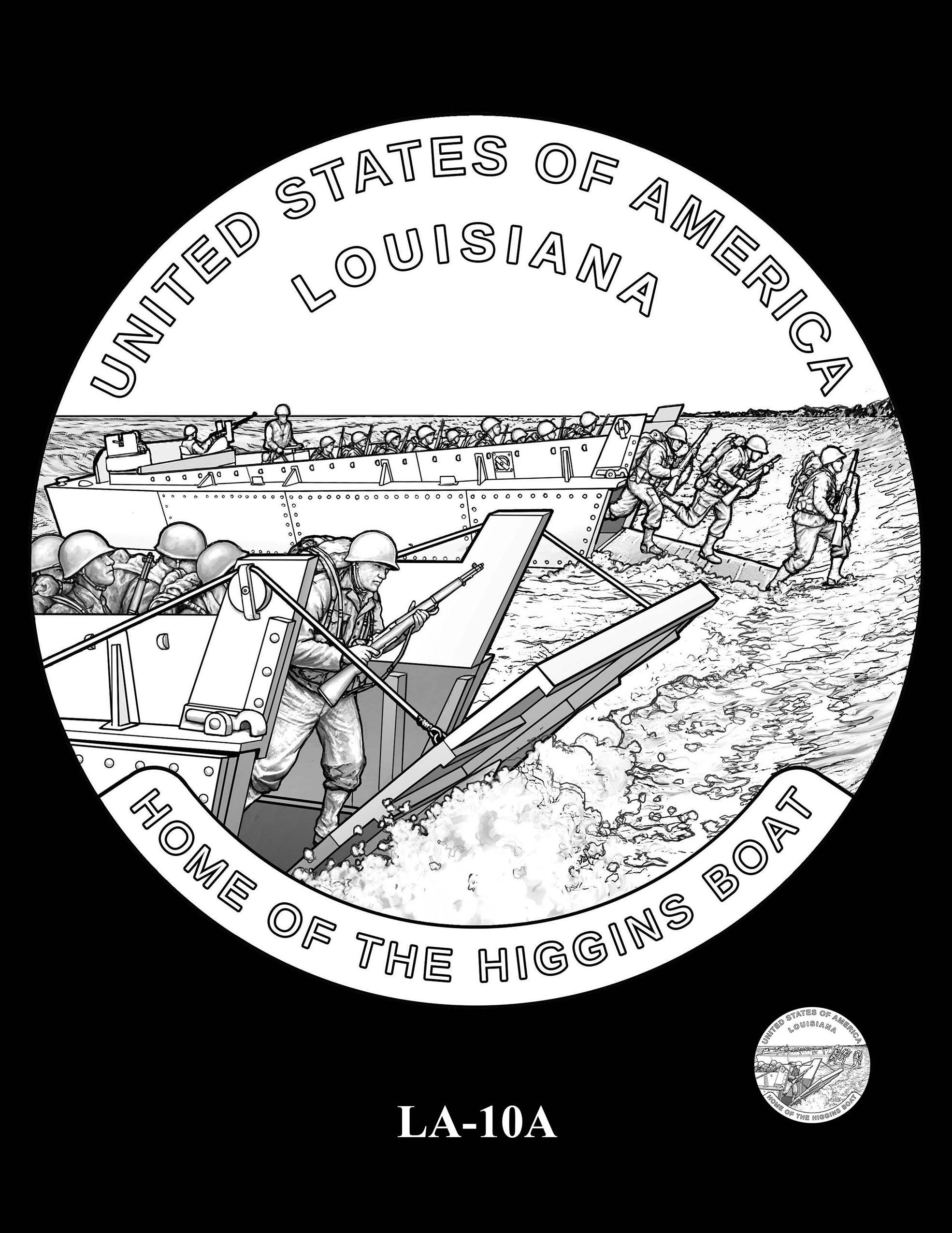 LA-10A -- 2023 American Innovation $1 Coin Program - Louisiana