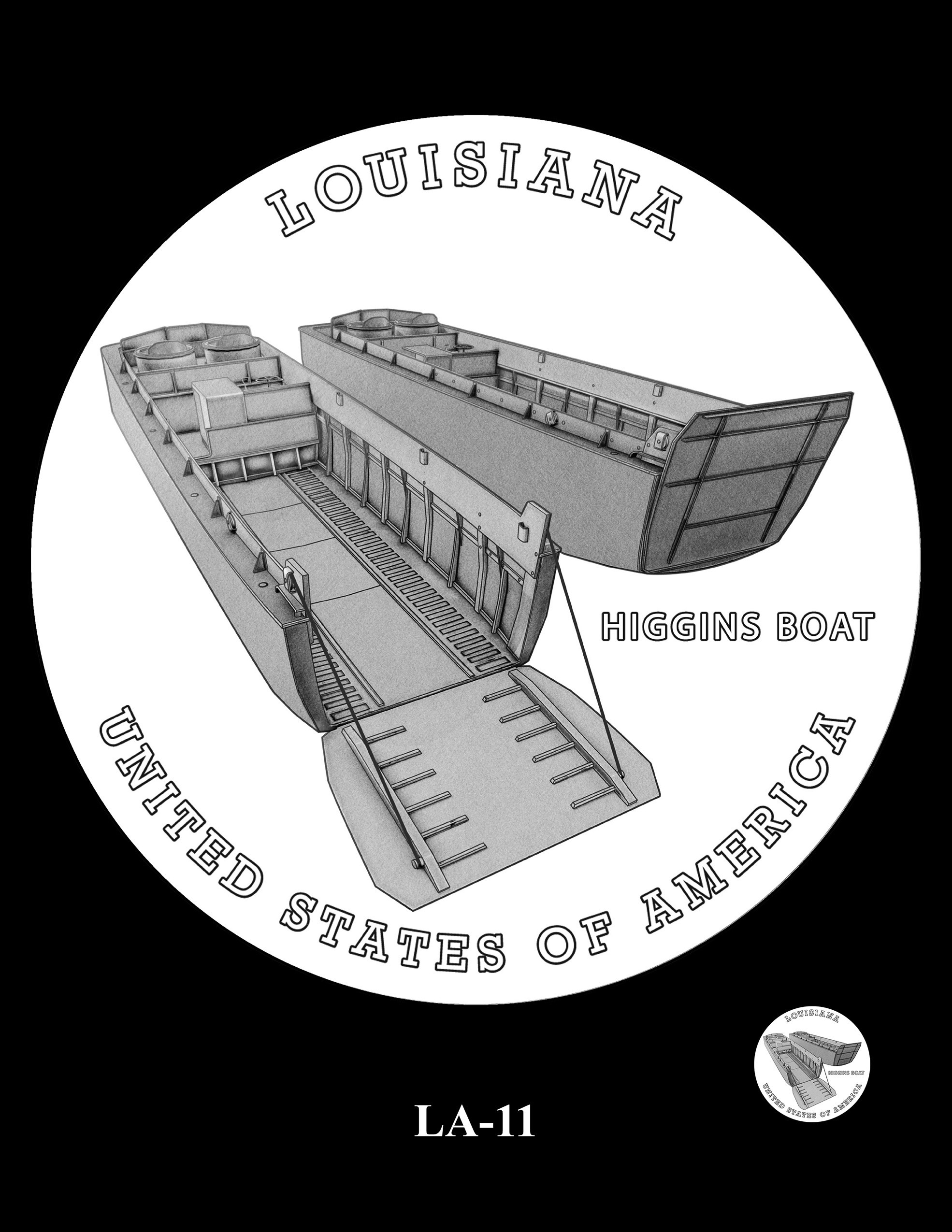 LA-11 -- 2023 American Innovation $1 Coin Program - Louisiana