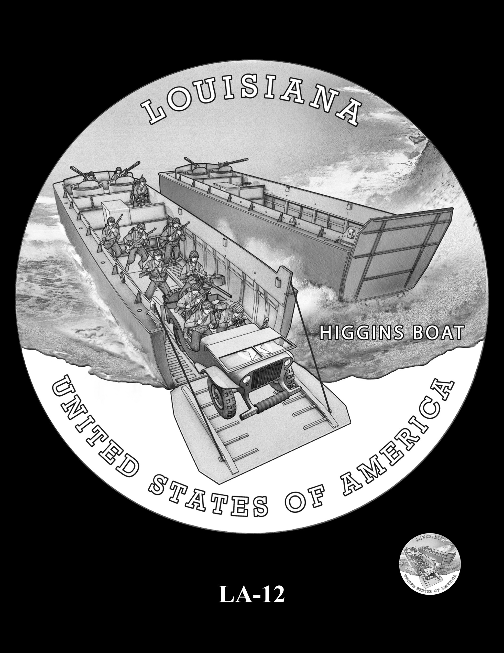 LA-12 -- 2023 American Innovation $1 Coin Program - Louisiana