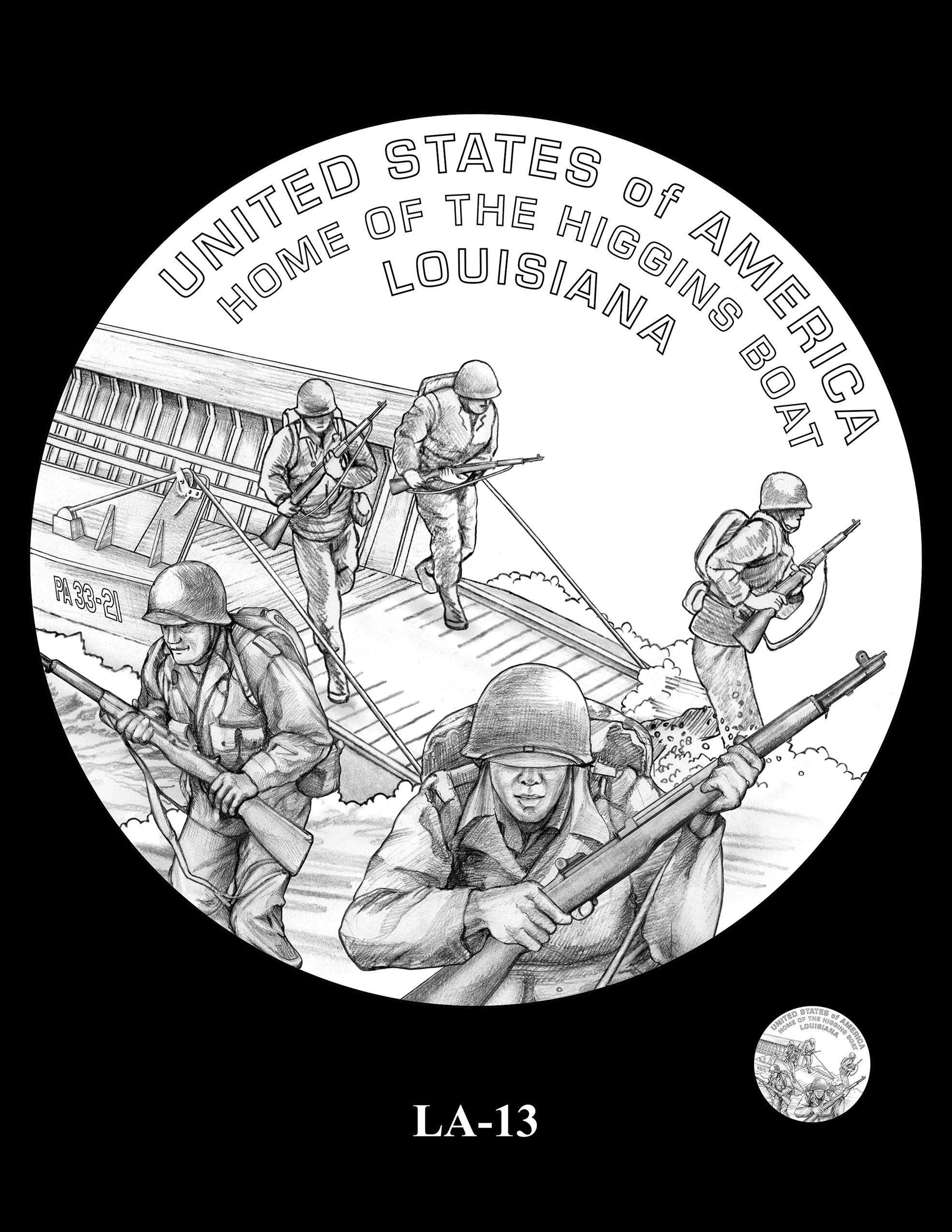 LA-13 -- 2023 American Innovation $1 Coin Program - Louisiana