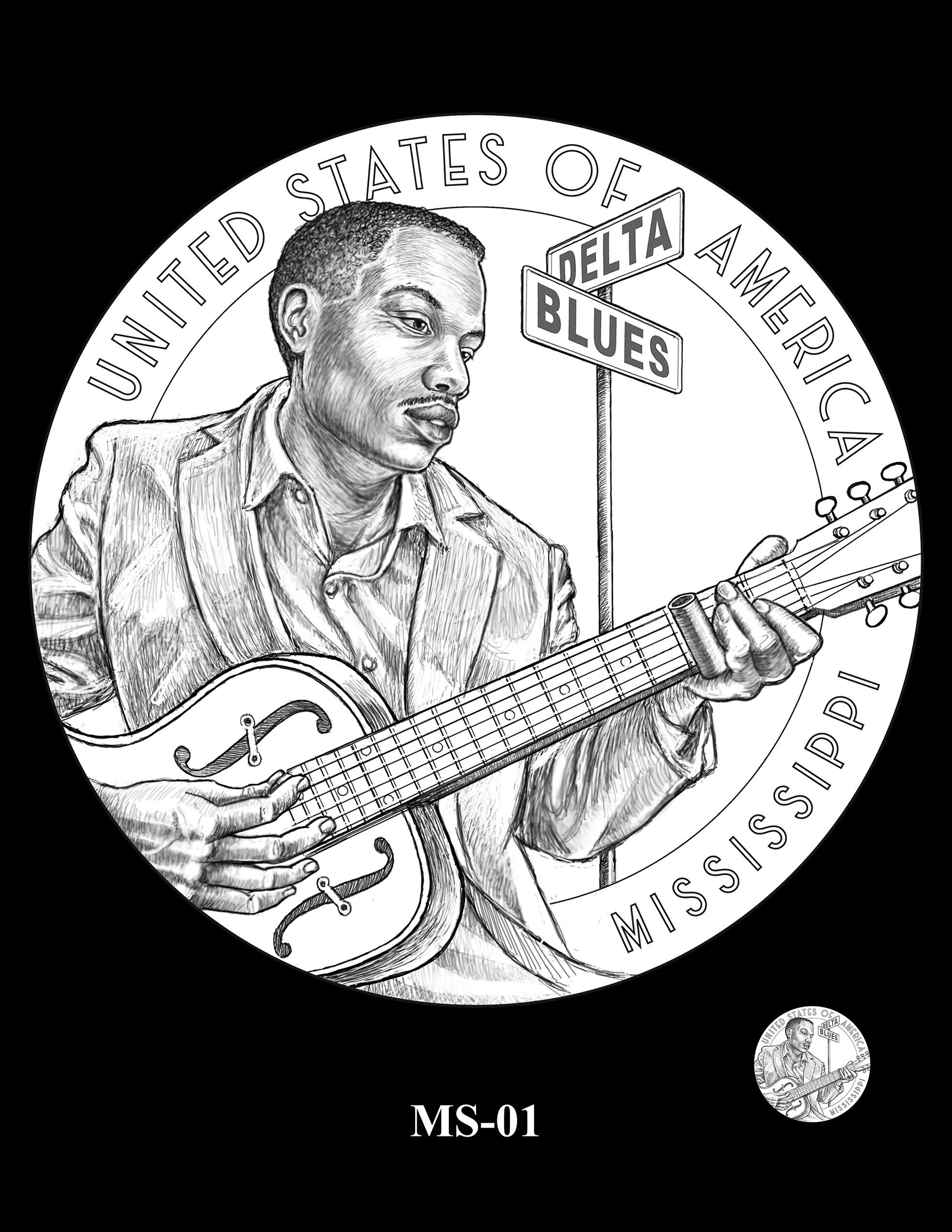 MS-01 -- 2023 American Innovation $1 Coin Program - Mississippi