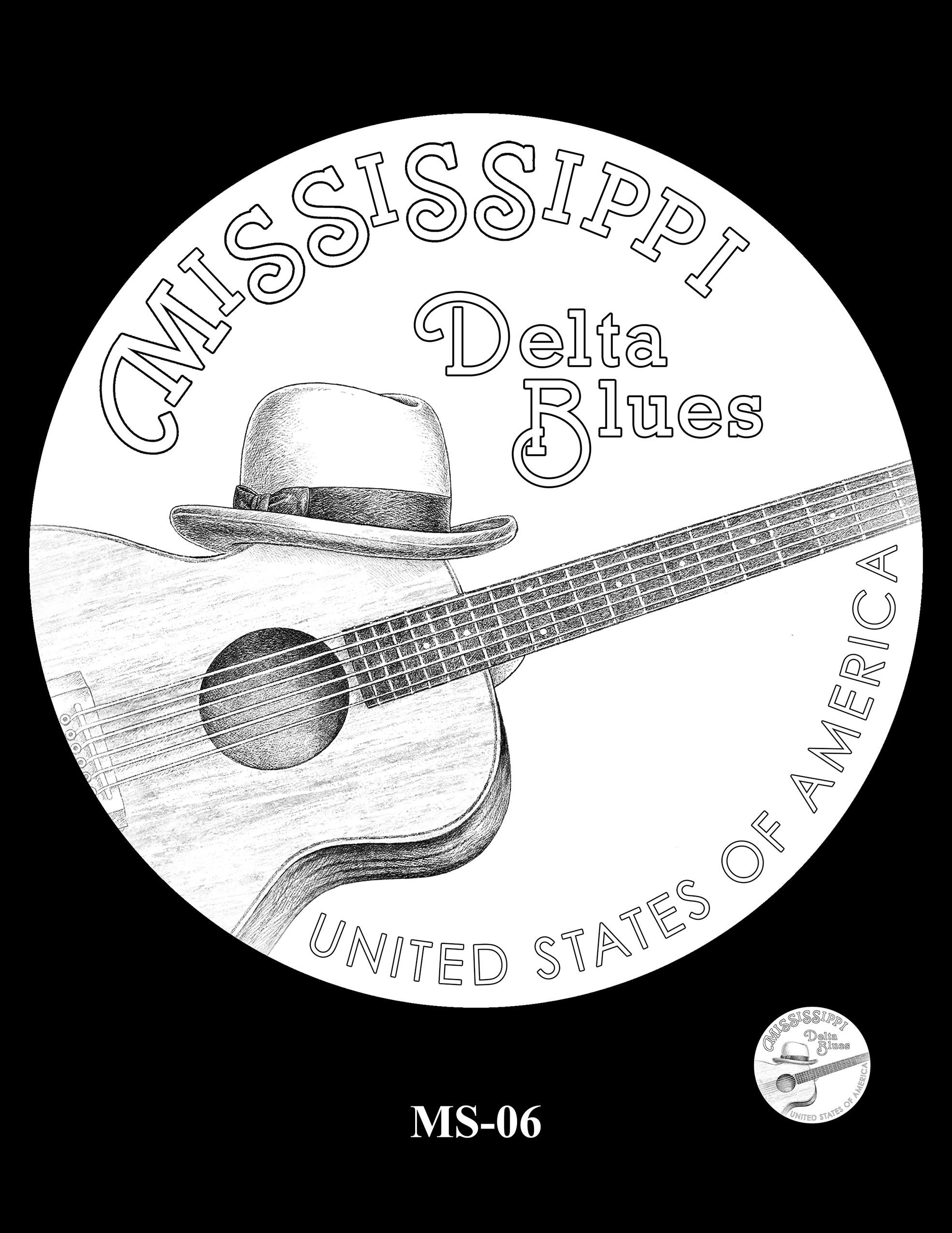 MS-06 -- 2023 American Innovation $1 Coin Program - Mississippi