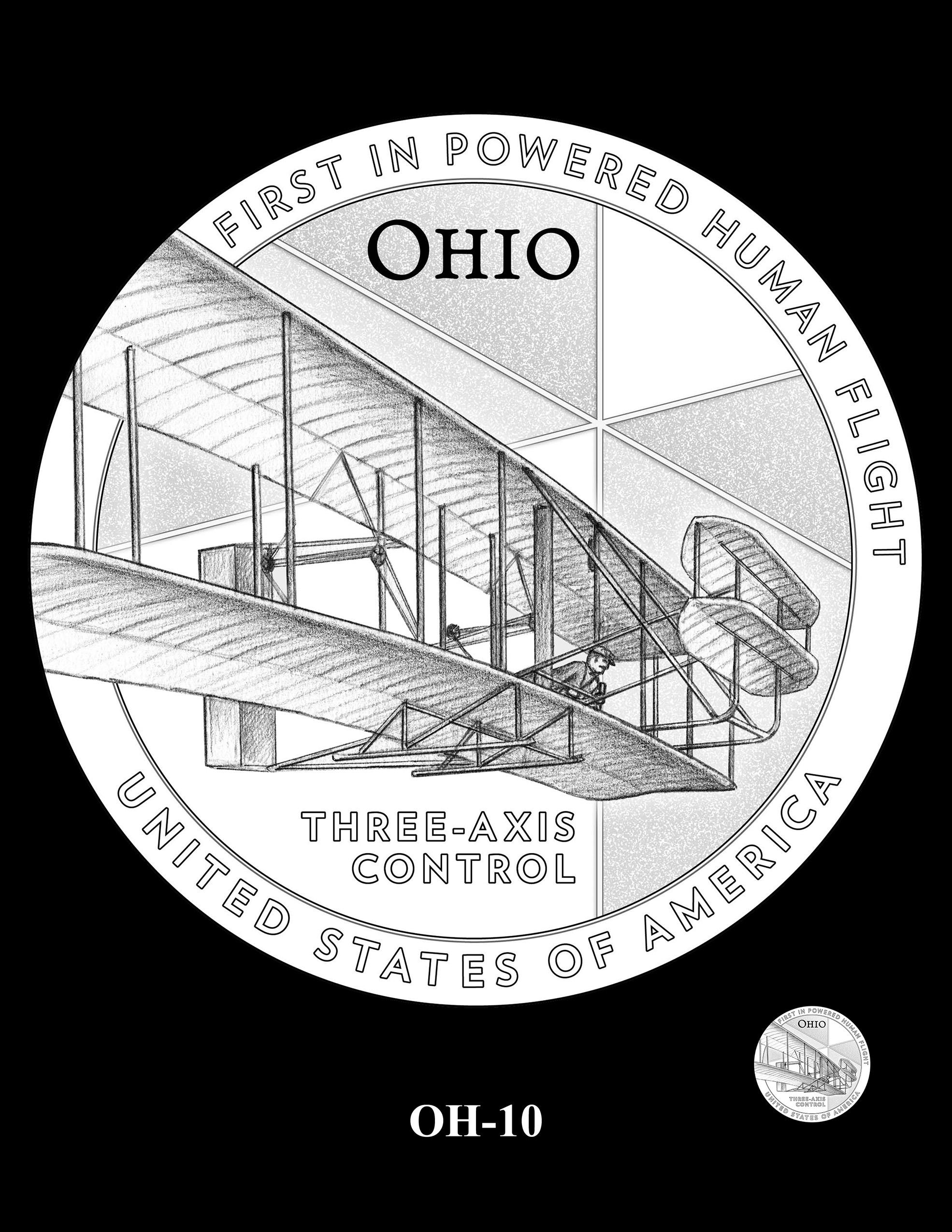 OH-10 -- 2023 American Innovation $1 Coin Program - Ohio