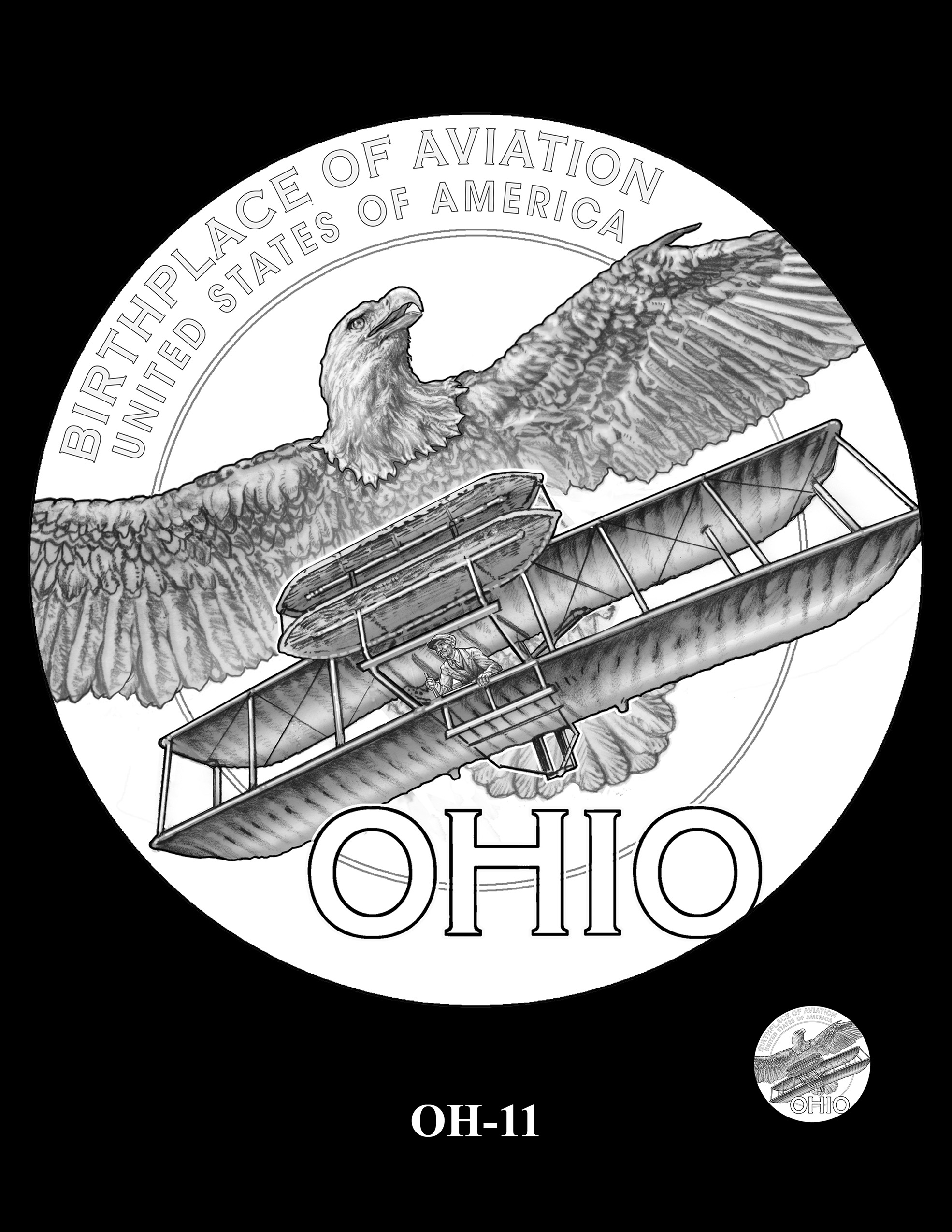 OH-11 -- 2023 American Innovation $1 Coin Program - Ohio