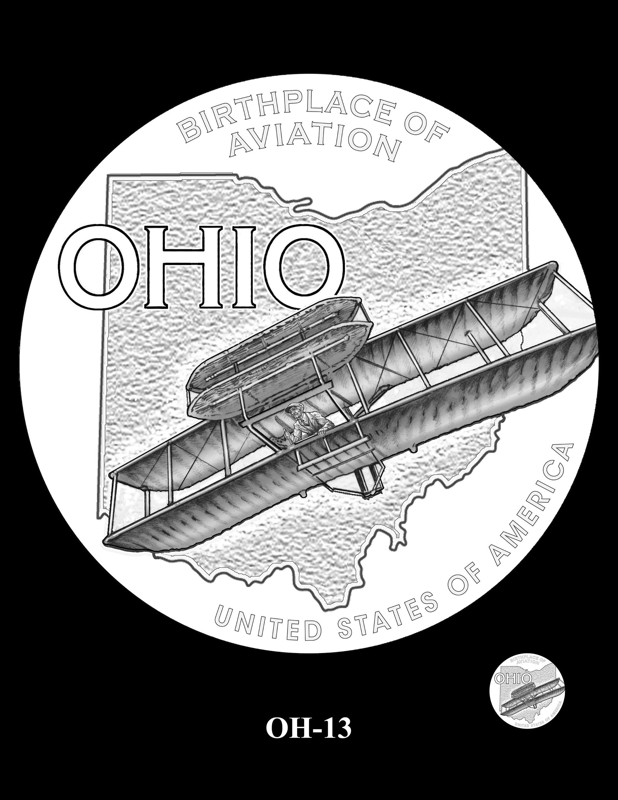 OH-13 -- 2023 American Innovation $1 Coin Program - Ohio