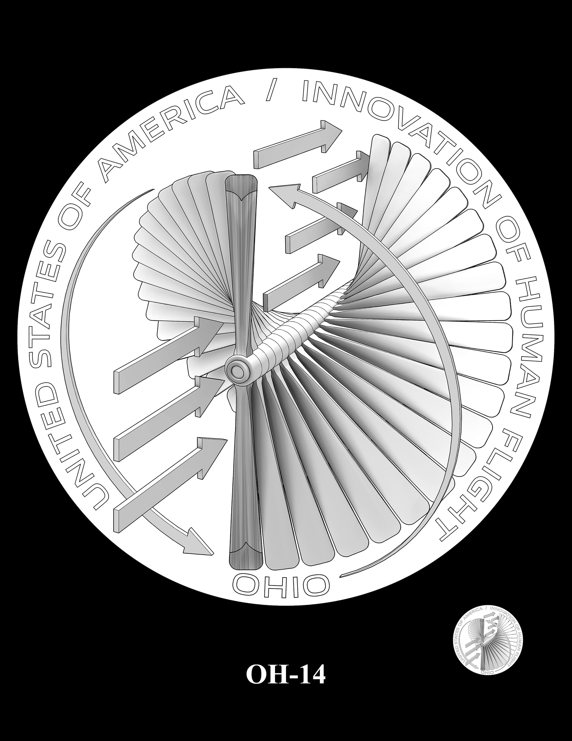 OH-14 -- 2023 American Innovation $1 Coin Program - Ohio