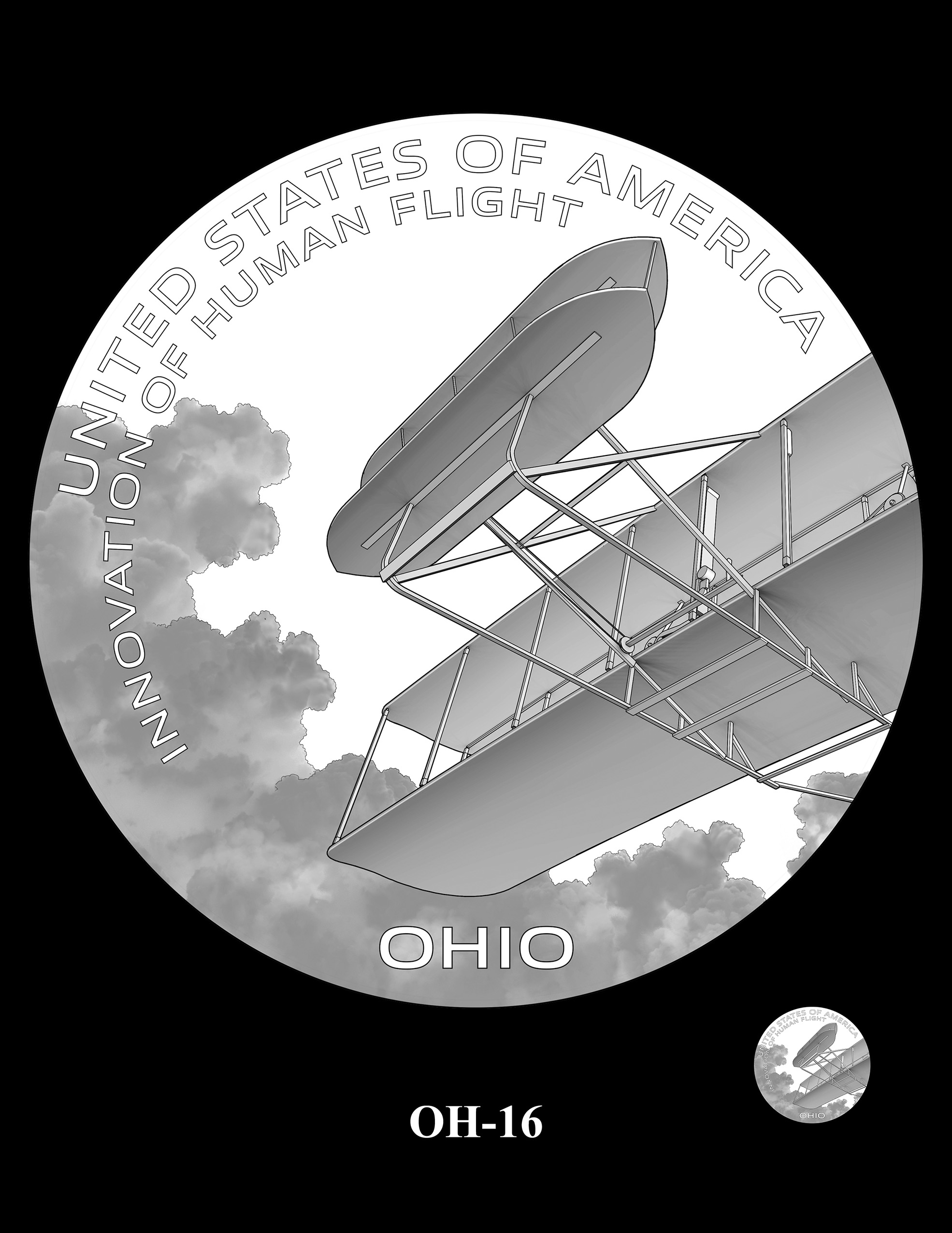 OH-16 -- 2023 American Innovation $1 Coin Program - Ohio