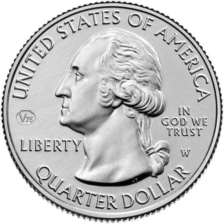2020 America the Beautiful Quarters Coin Circulating Obverse West Point Privy Mark