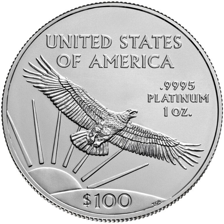 2021 American Eagle Platinum One Ounce Bullion Coin Reverse