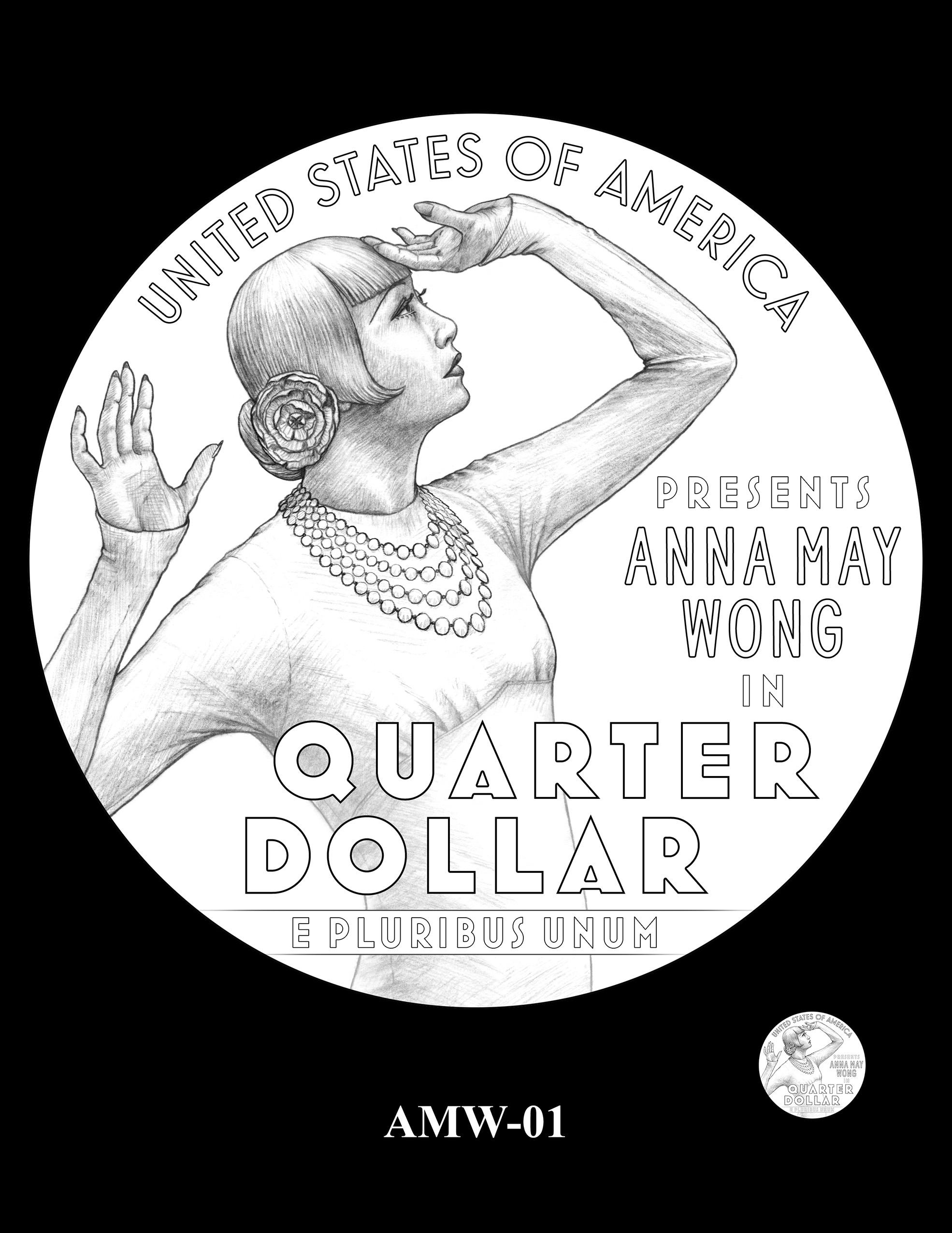 AMW-01 -- 2022 American Women Quarters - Anna May Wong