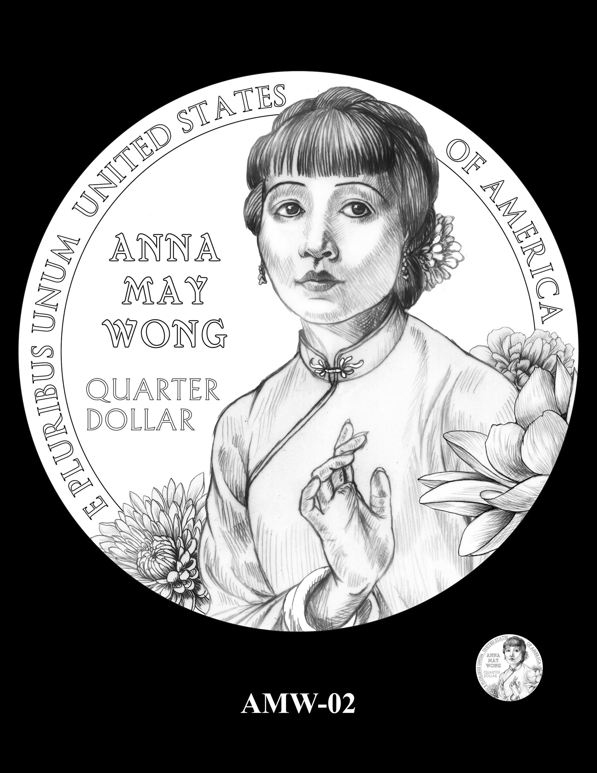 AMW-02 -- 2022 American Women Quarters - Anna May Wong