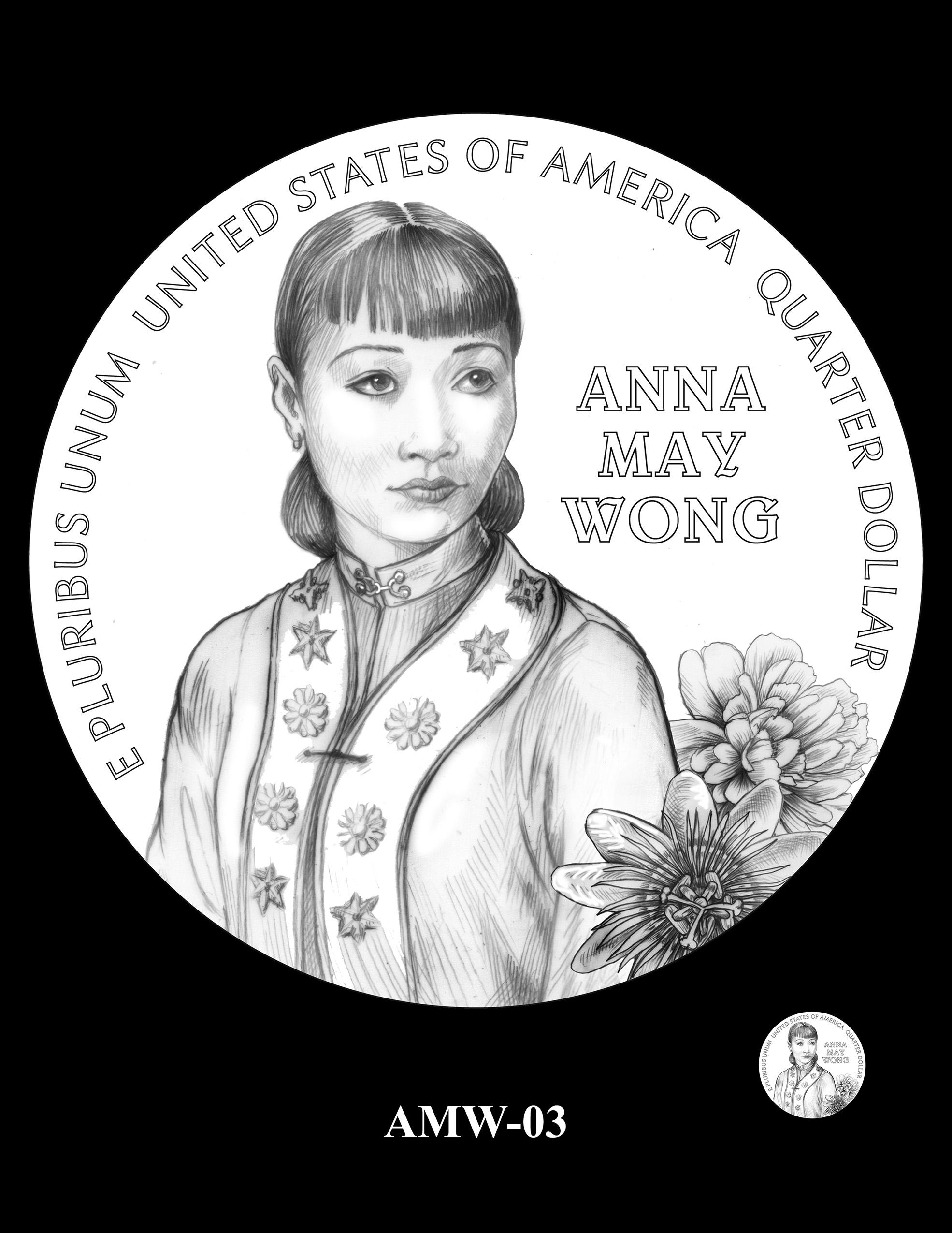 AMW-03 -- 2022 American Women Quarters - Anna May Wong