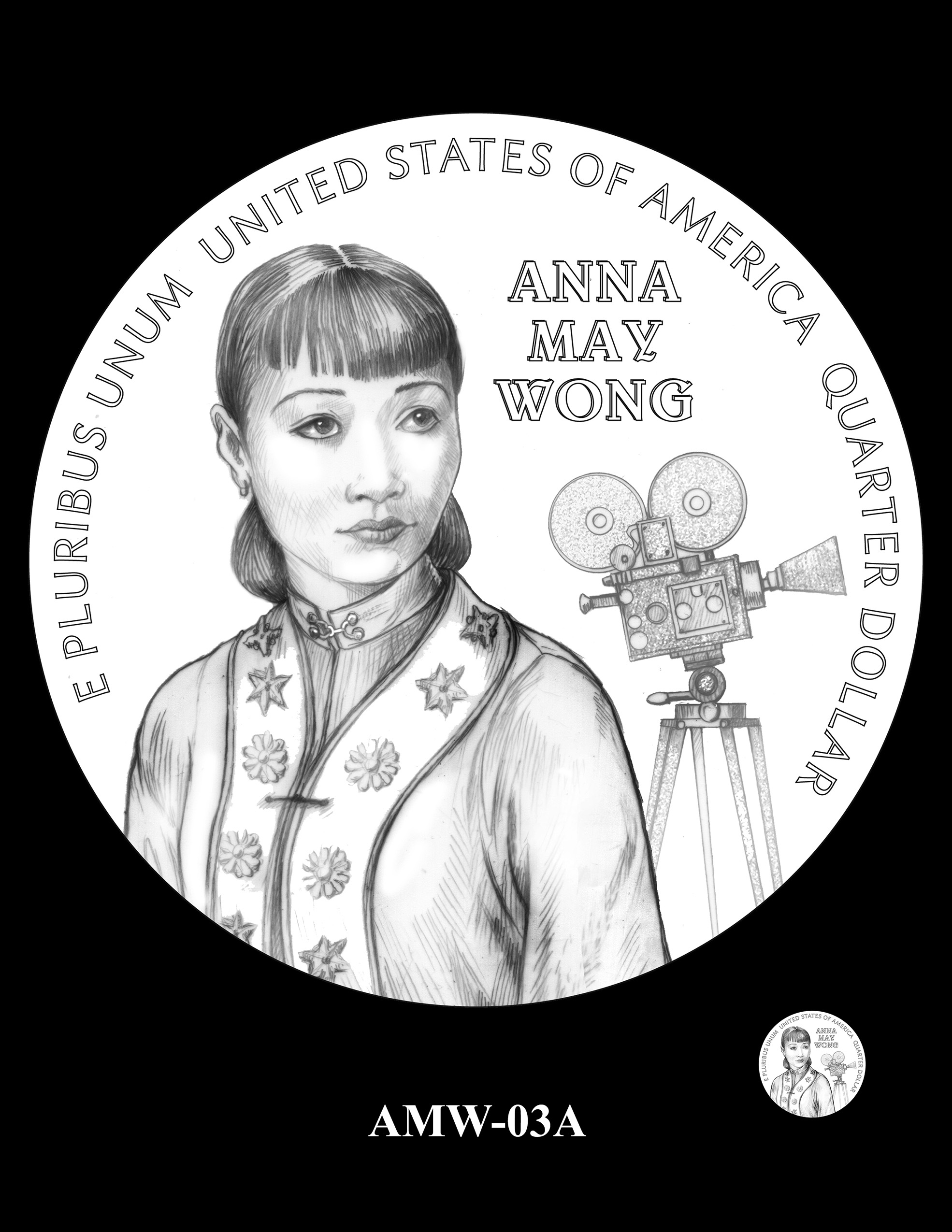 AMW-03A -- 2022 American Women Quarters - Anna May Wong
