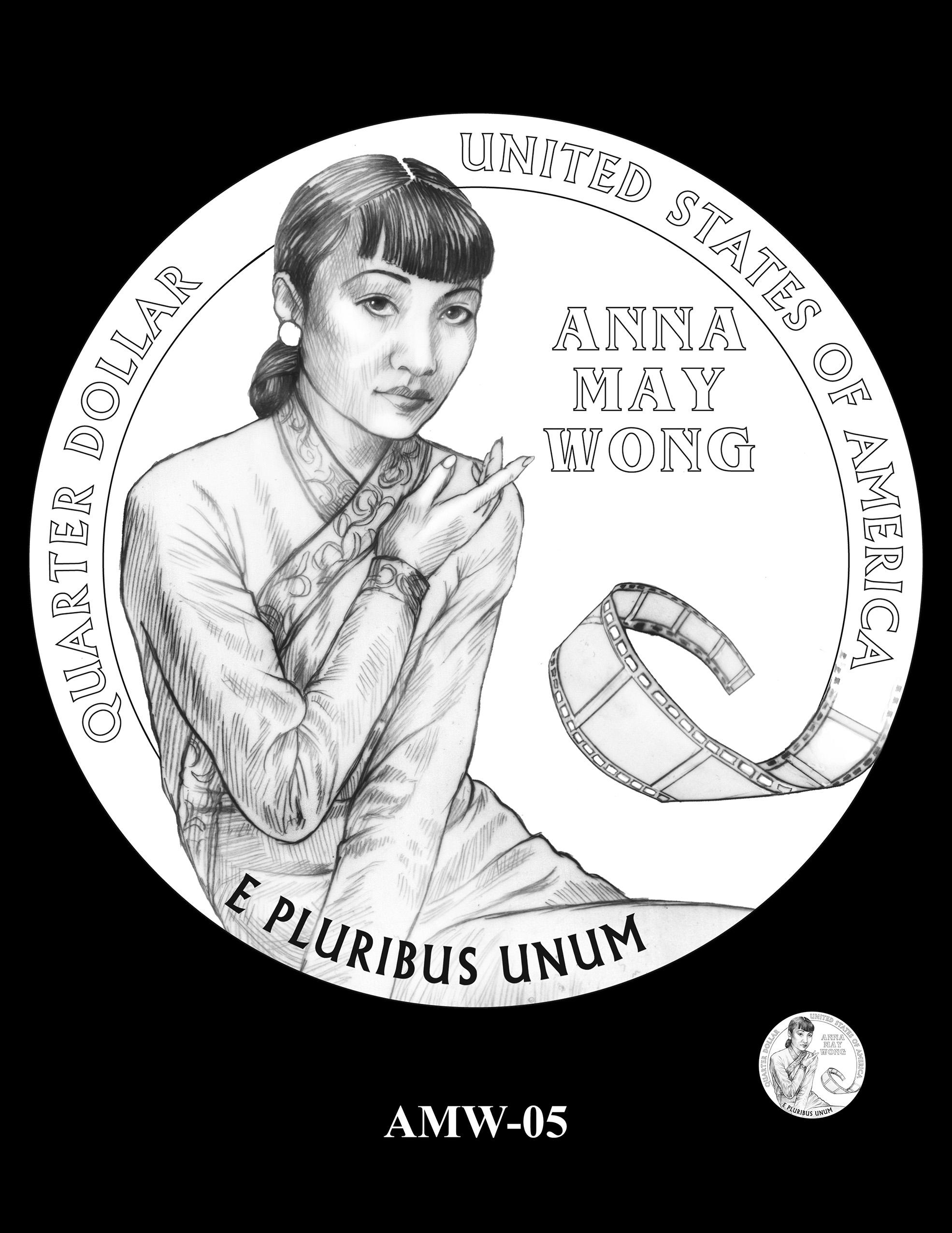 AMW-05 -- 2022 American Women Quarters - Anna May Wong
