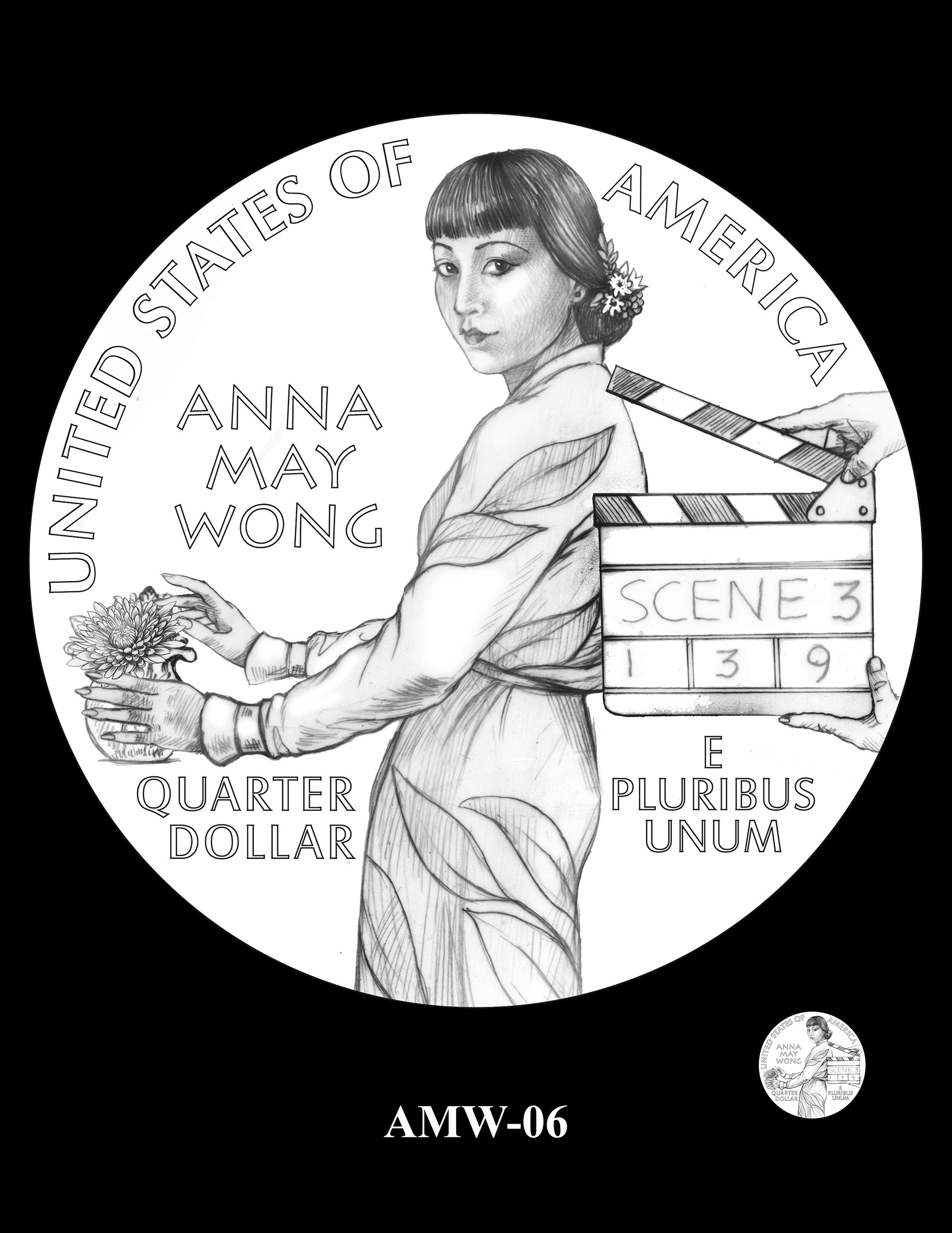 AMW-06 -- 2022 American Women Quarters - Anna May Wong