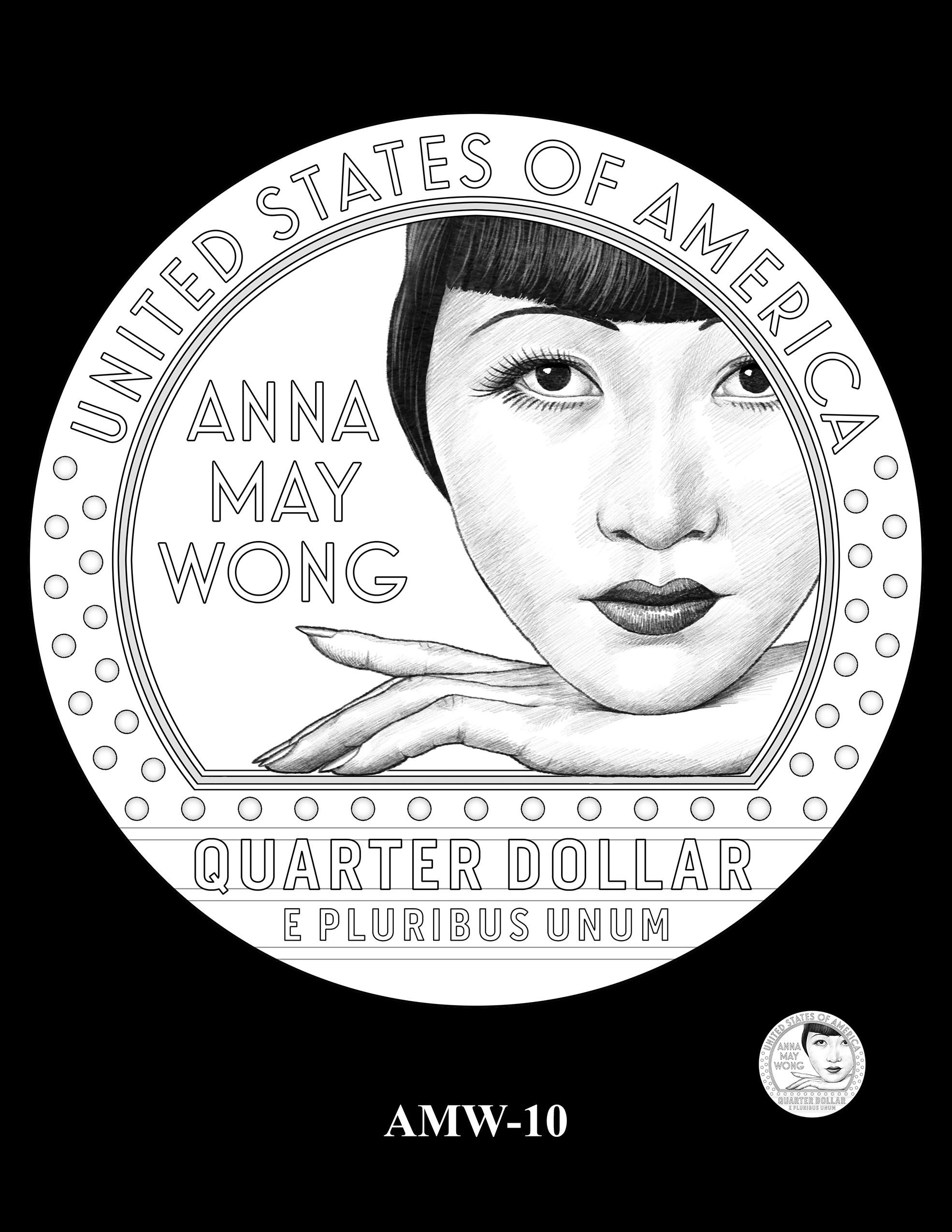 AMW-10 -- 2022 American Women Quarters - Anna May Wong