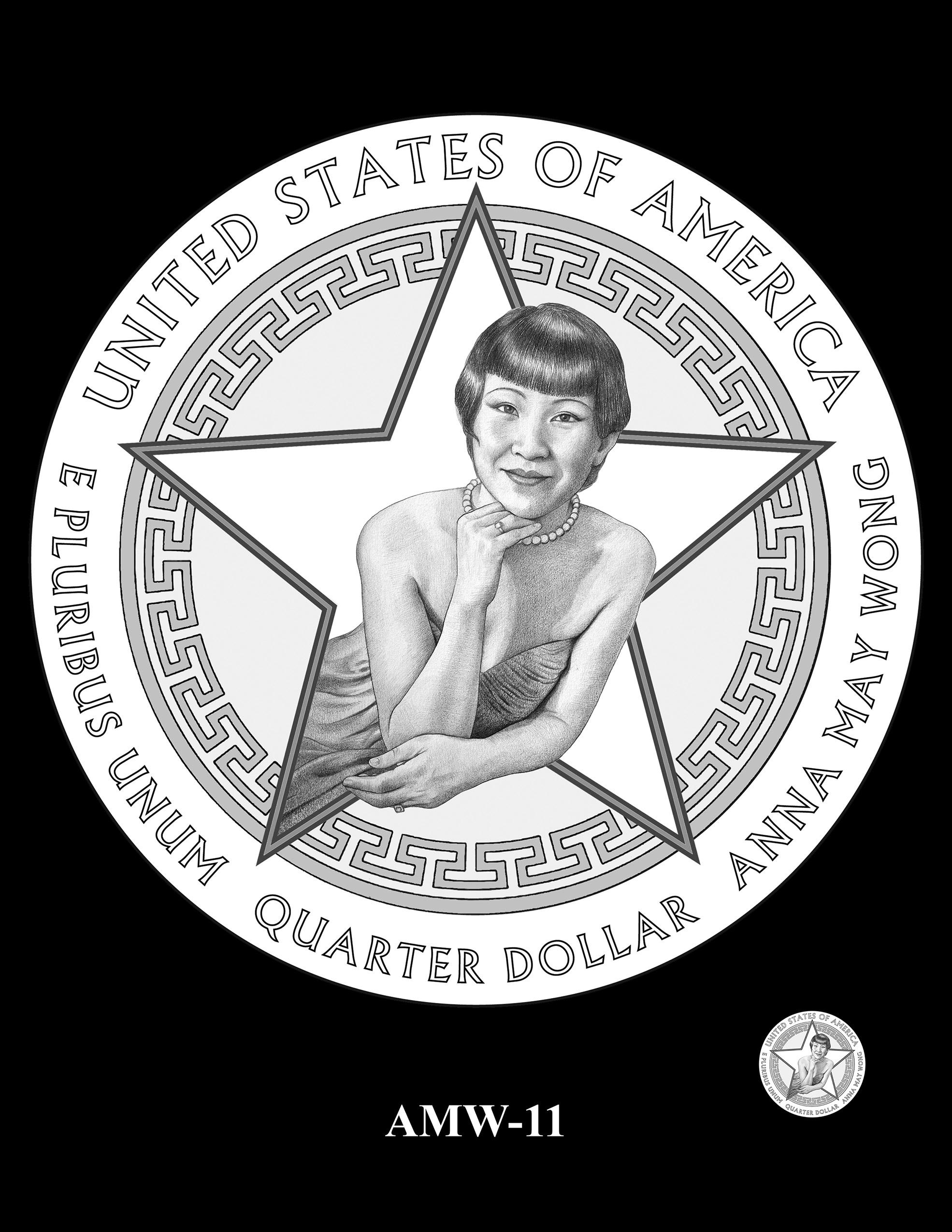 AMW-11 -- 2022 American Women Quarters - Anna May Wong