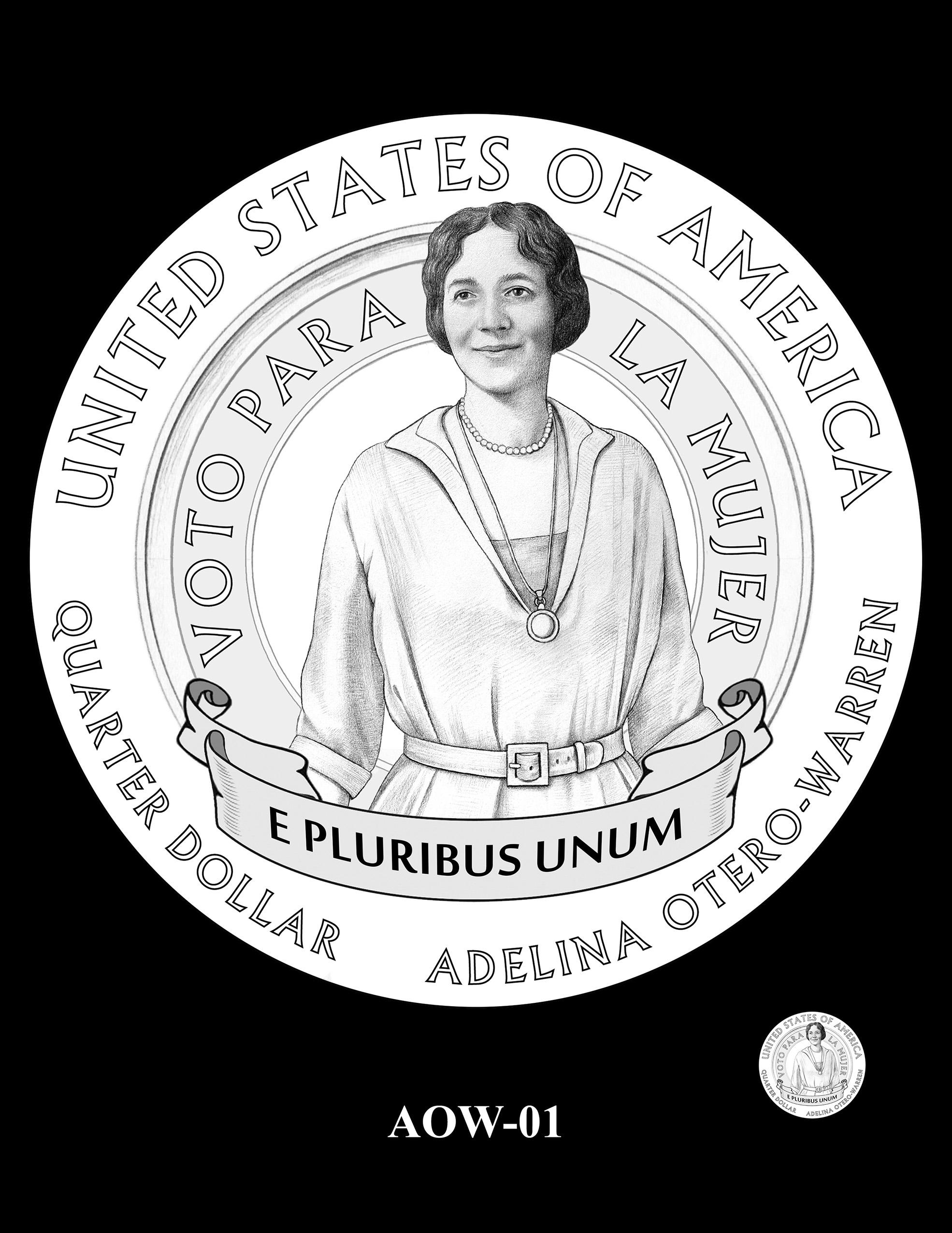 AOW-01 -- 2022 American Women Quarters - Adelina Otero-Warren
