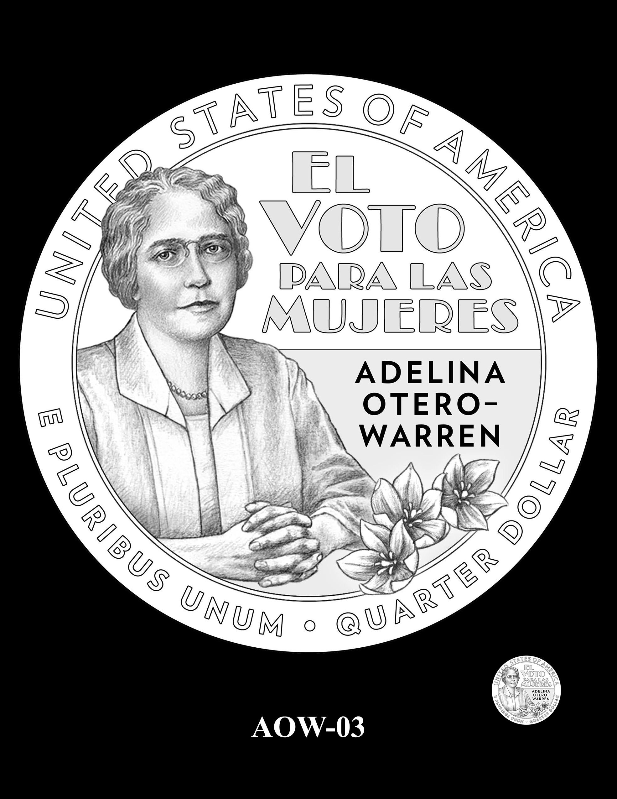 AOW-03 -- 2022 American Women Quarters - Adelina Otero-Warren