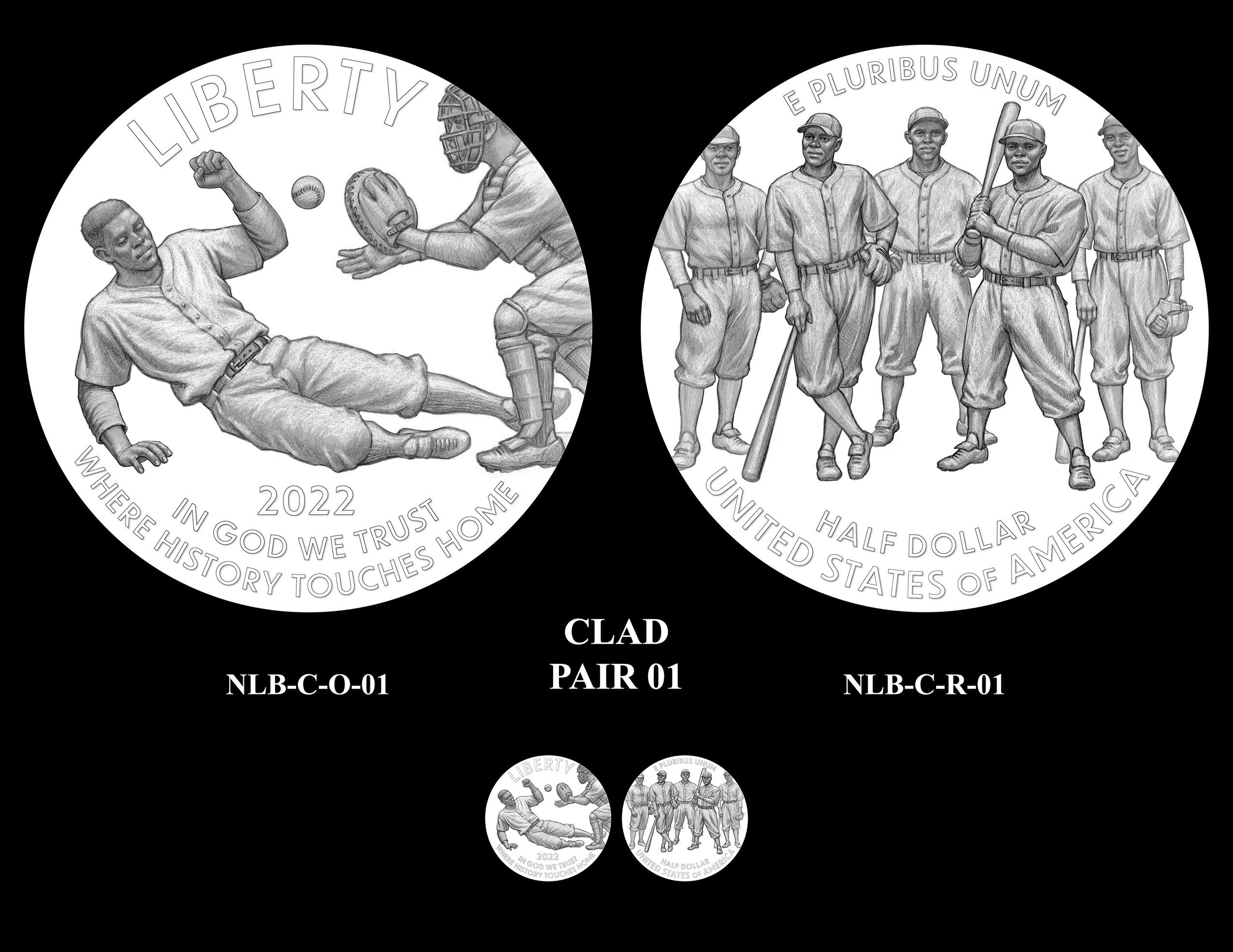 Clad Pair 01 -- Negro Leagues Baseball Commemorative Coin Program