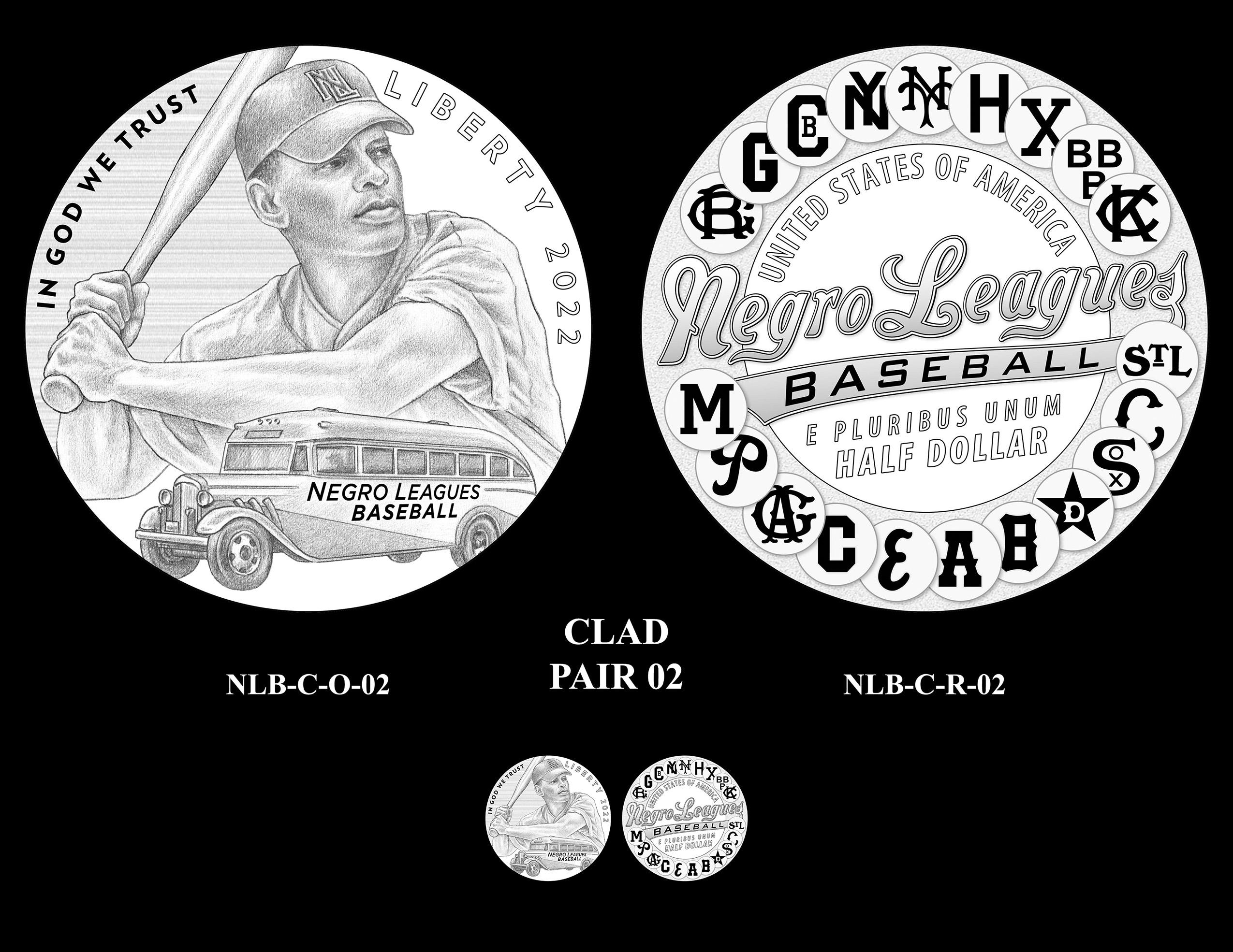 Clad Pair 02 -- Negro Leagues Baseball Commemorative Coin Program