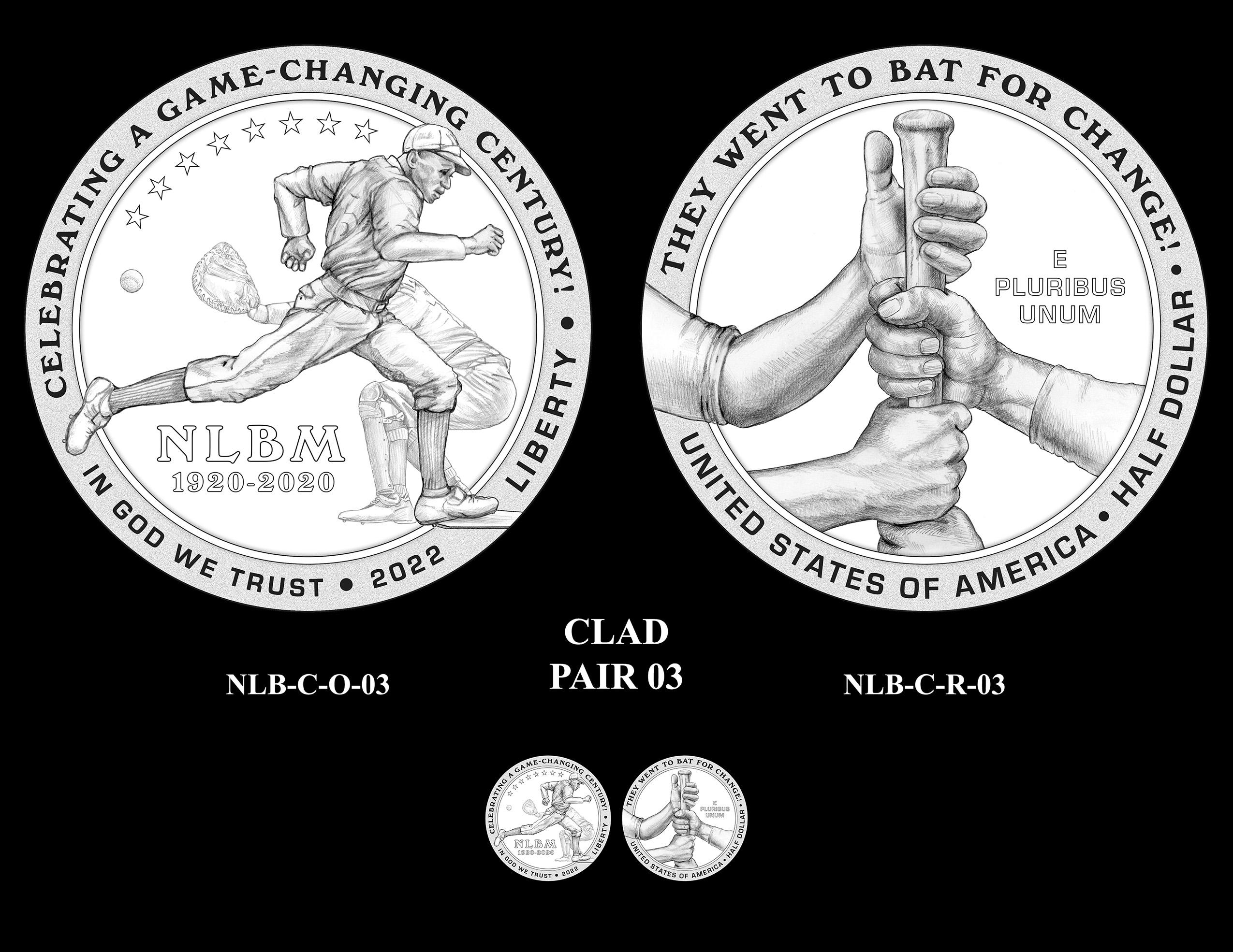 Clad Pair 03 -- Negro Leagues Baseball Commemorative Coin Program