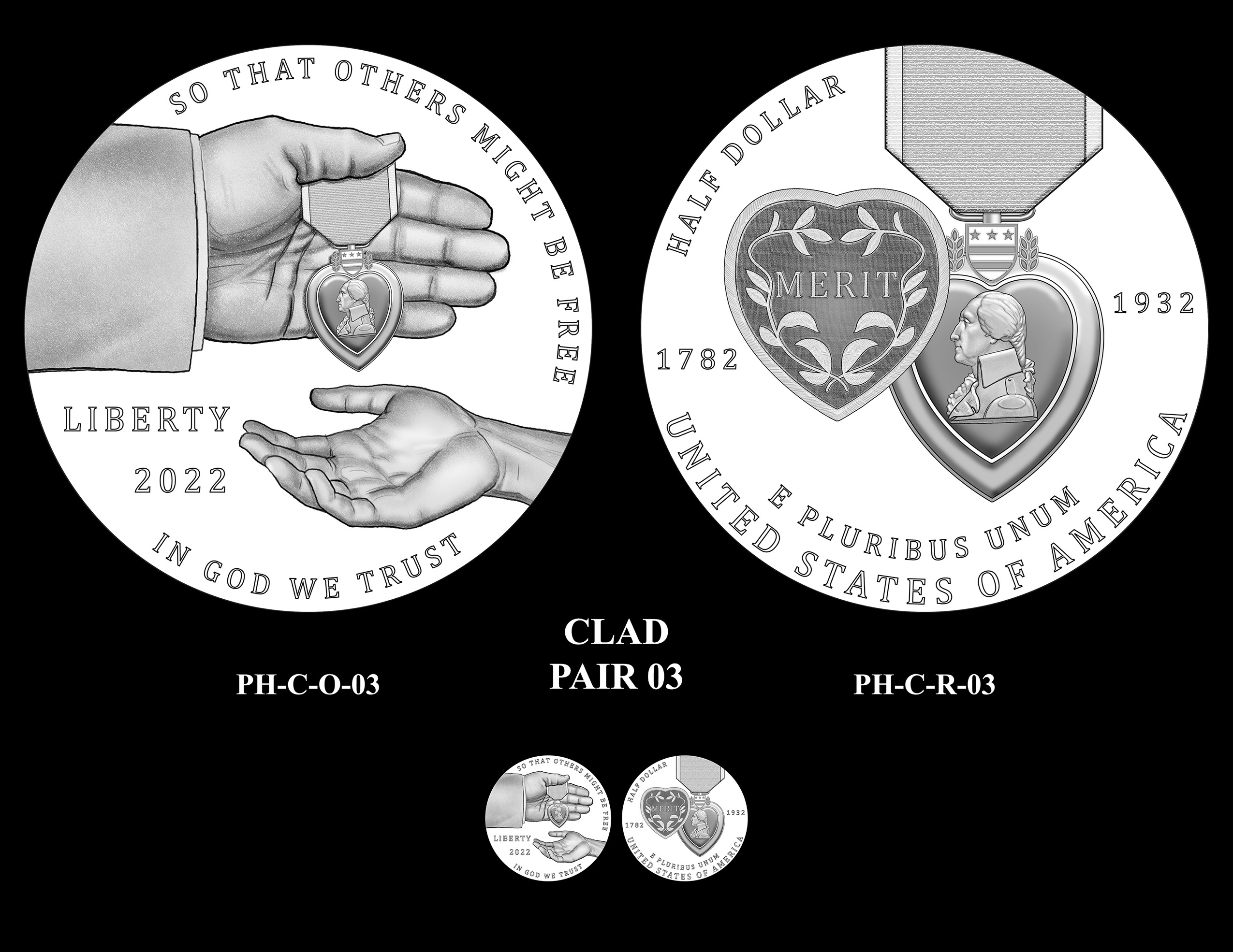 Clad Pair 03 -- National Purple Heart Hall of Honor Commemorative Coin Program