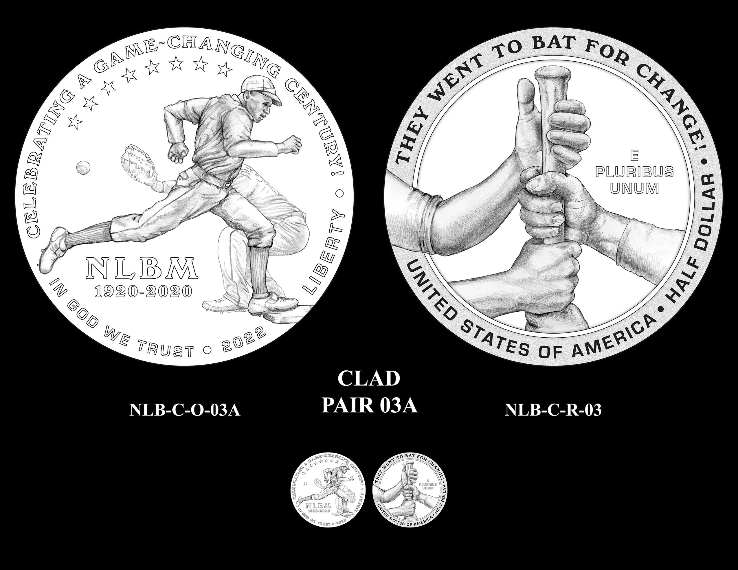 Clad Pair 03A -- Negro Leagues Baseball Commemorative Coin Program