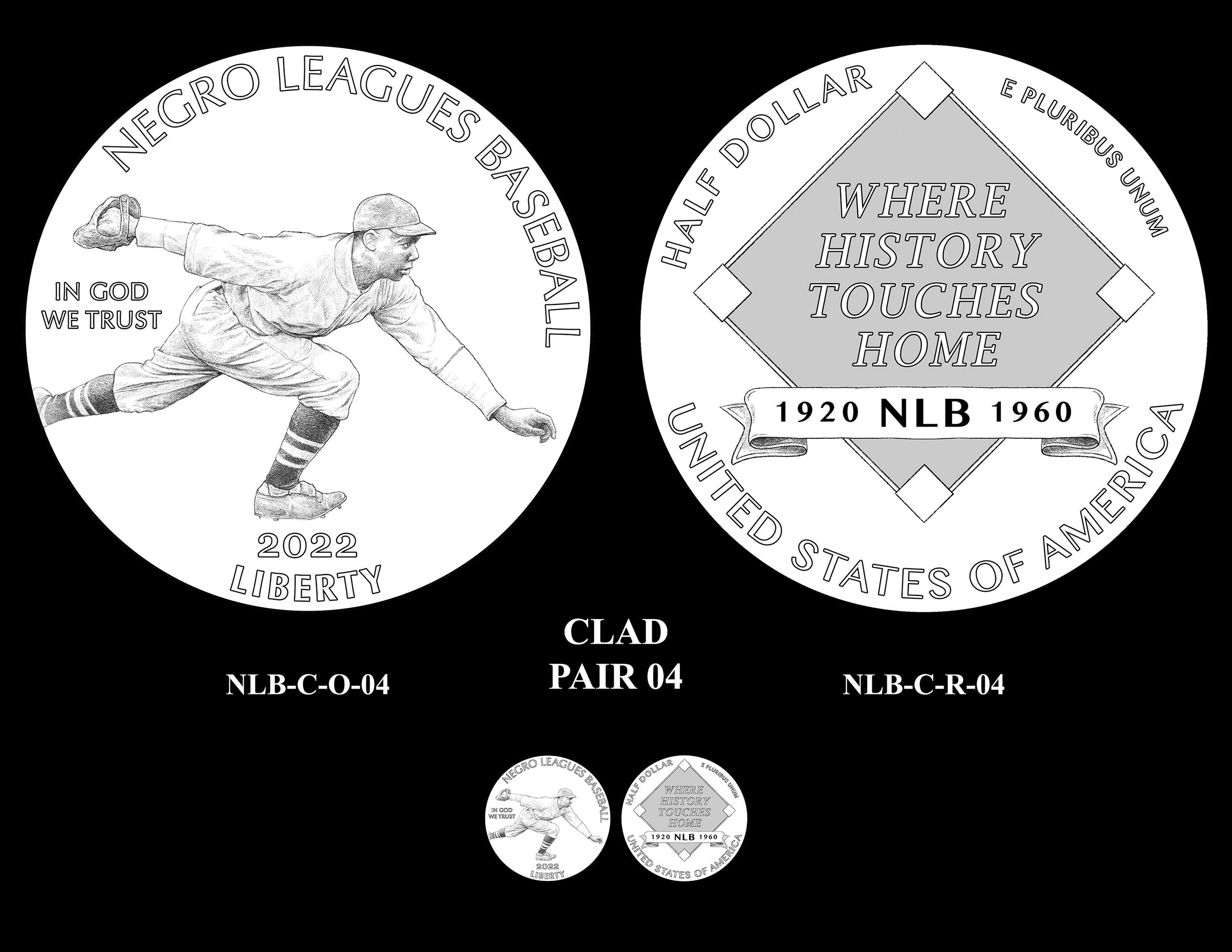 Clad Pair 04 -- Negro Leagues Baseball Commemorative Coin Program