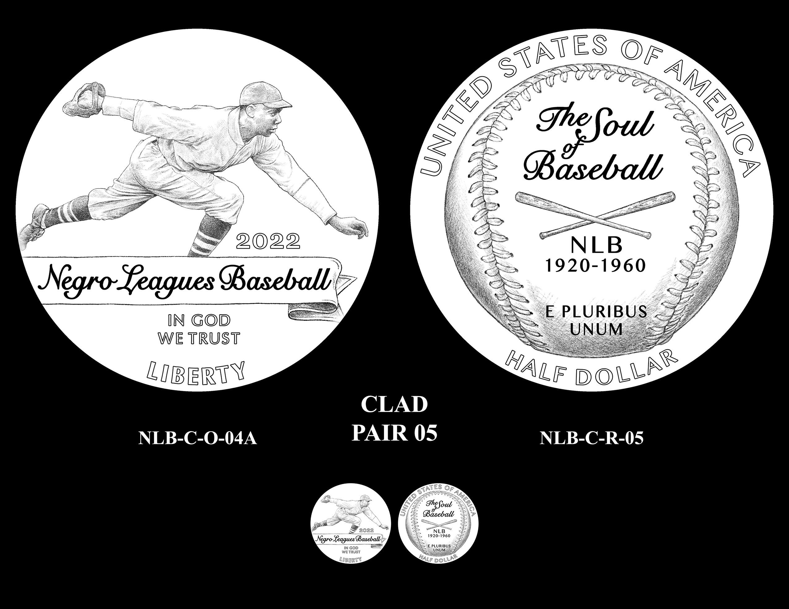 Clad Pair 05 -- Negro Leagues Baseball Commemorative Coin Program