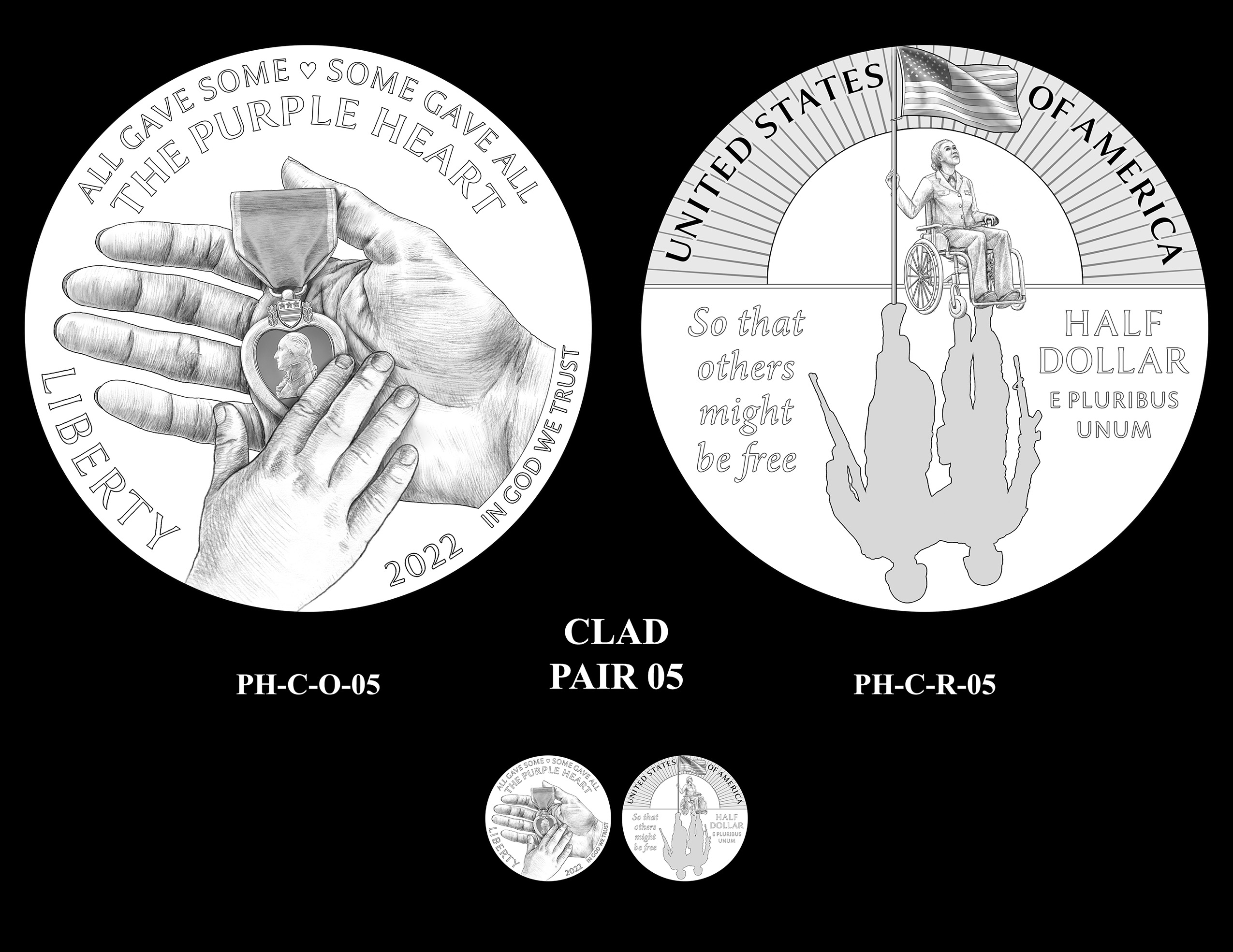 Clad Pair 05 -- National Purple Heart Hall of Honor Commemorative Coin Program