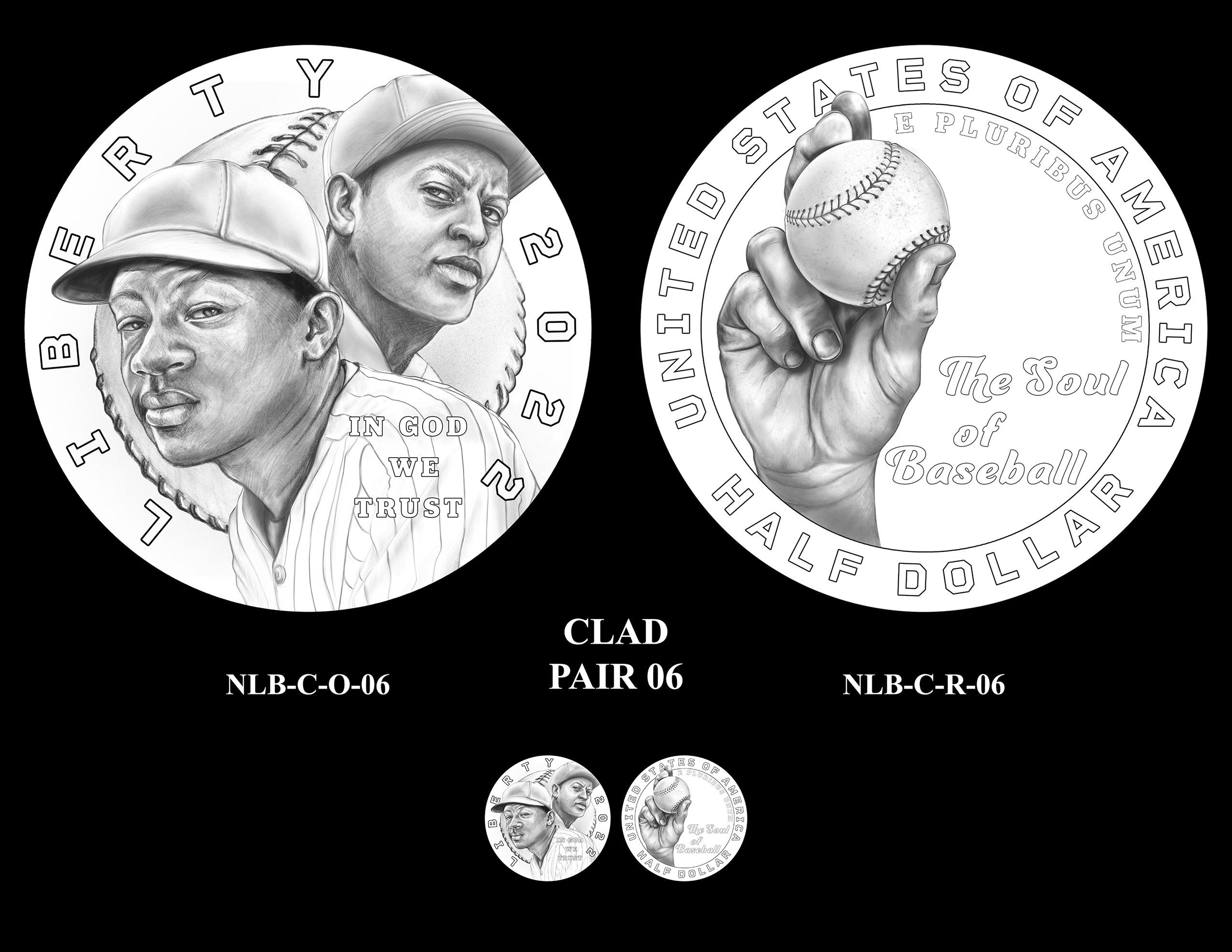 Clad Pair 06 -- Negro Leagues Baseball Commemorative Coin Program