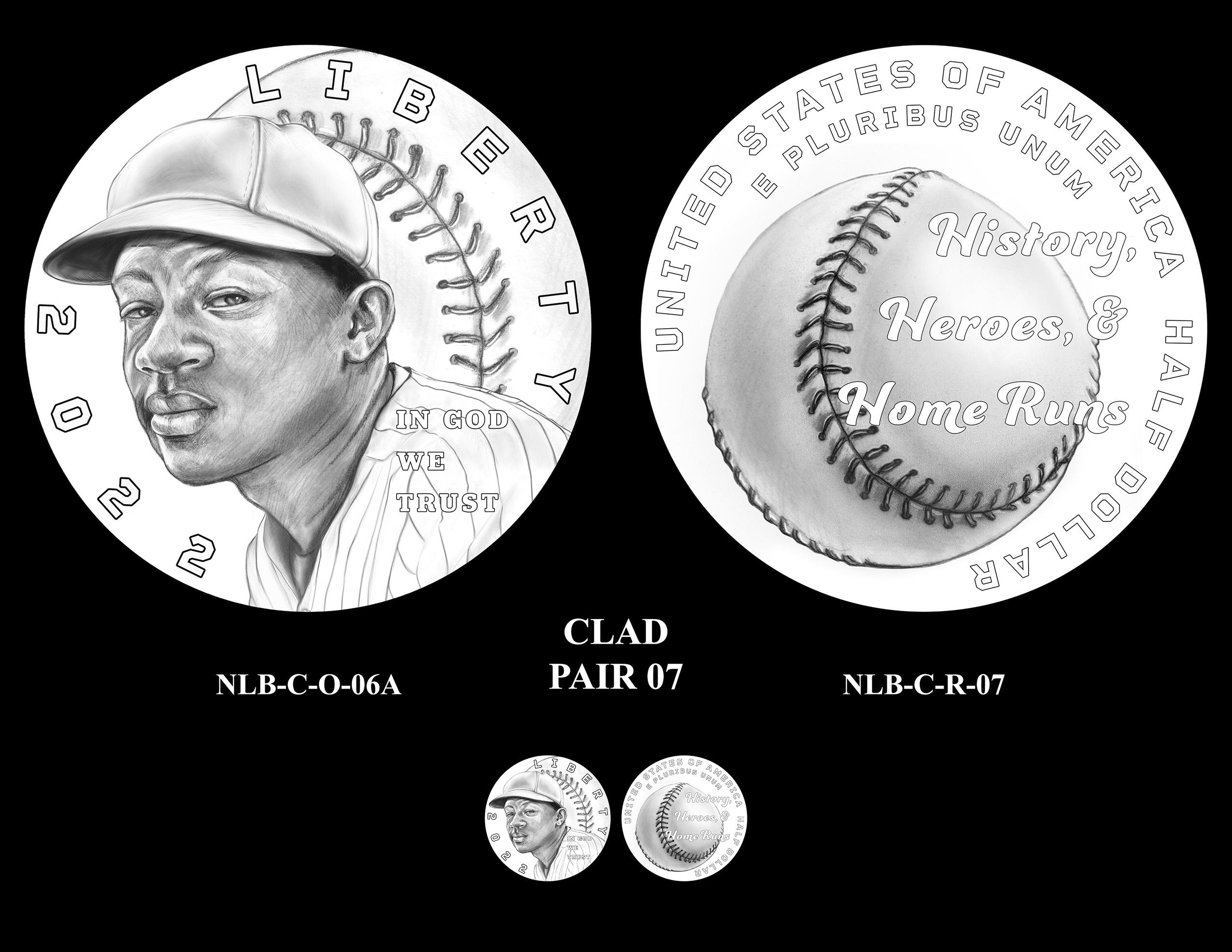 Clad Pair 07 -- Negro Leagues Baseball Commemorative Coin Program