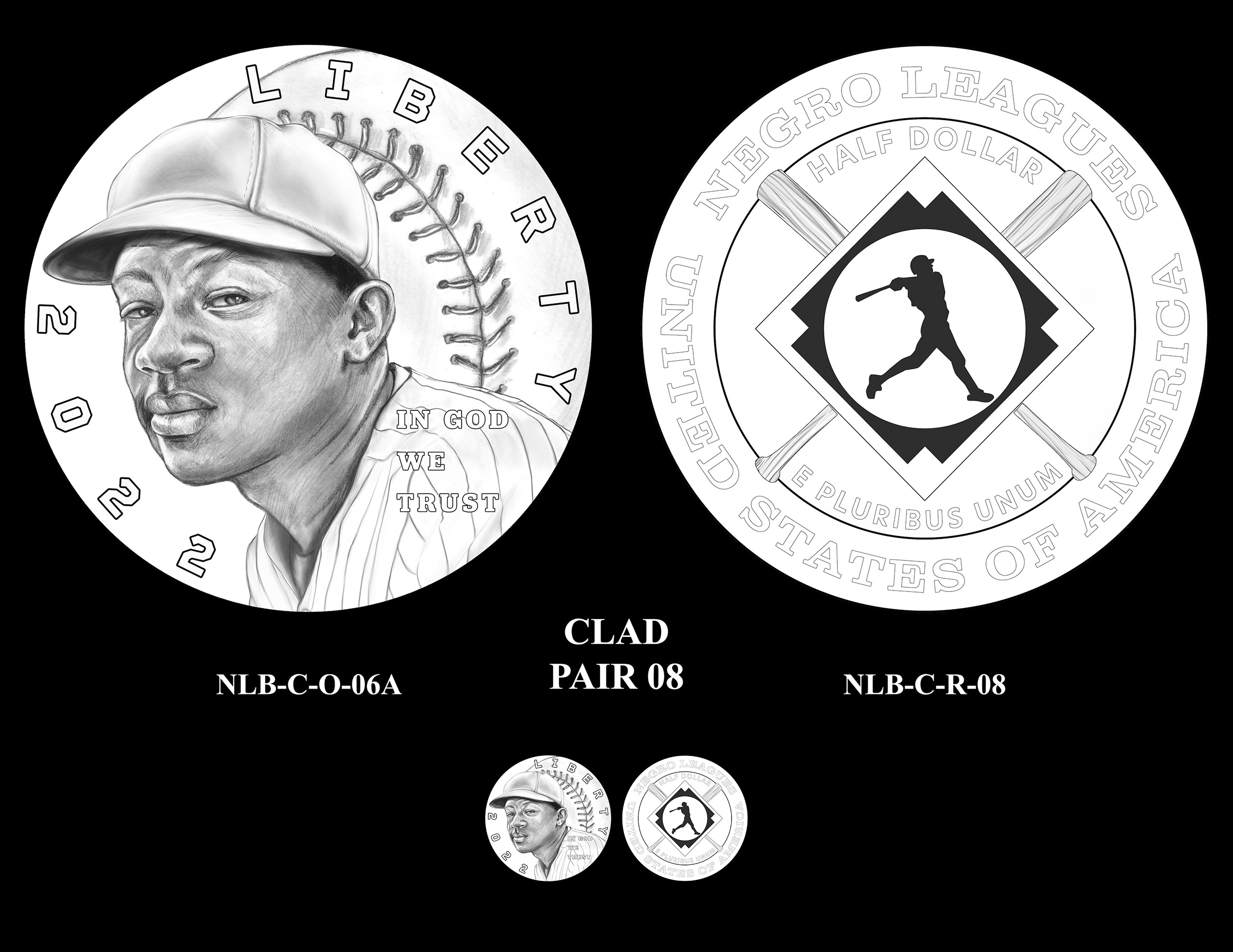 Clad Pair 08 -- Negro Leagues Baseball Commemorative Coin Program