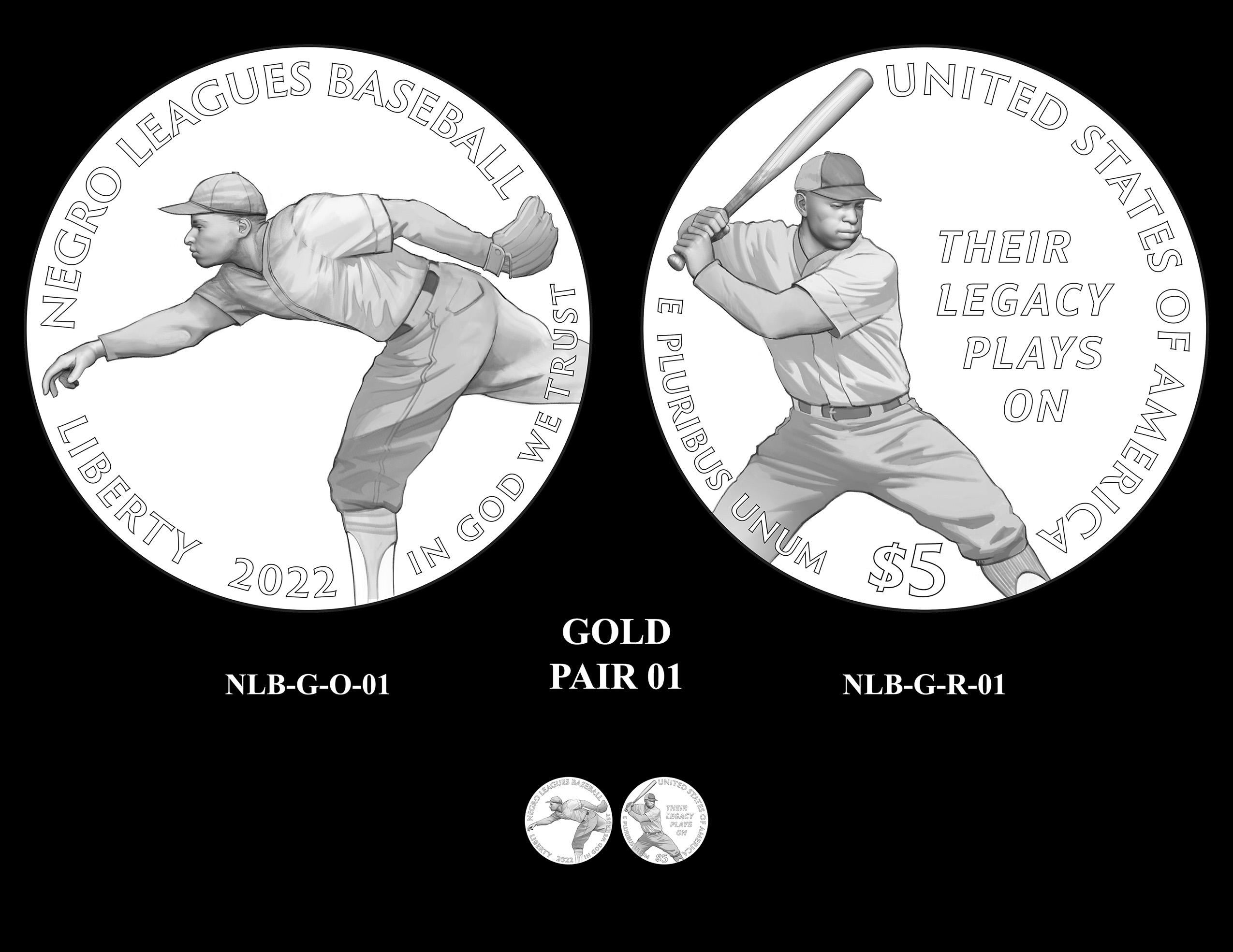 Gold Pair 01 -- Negro Leagues Baseball Commemorative Coin Program