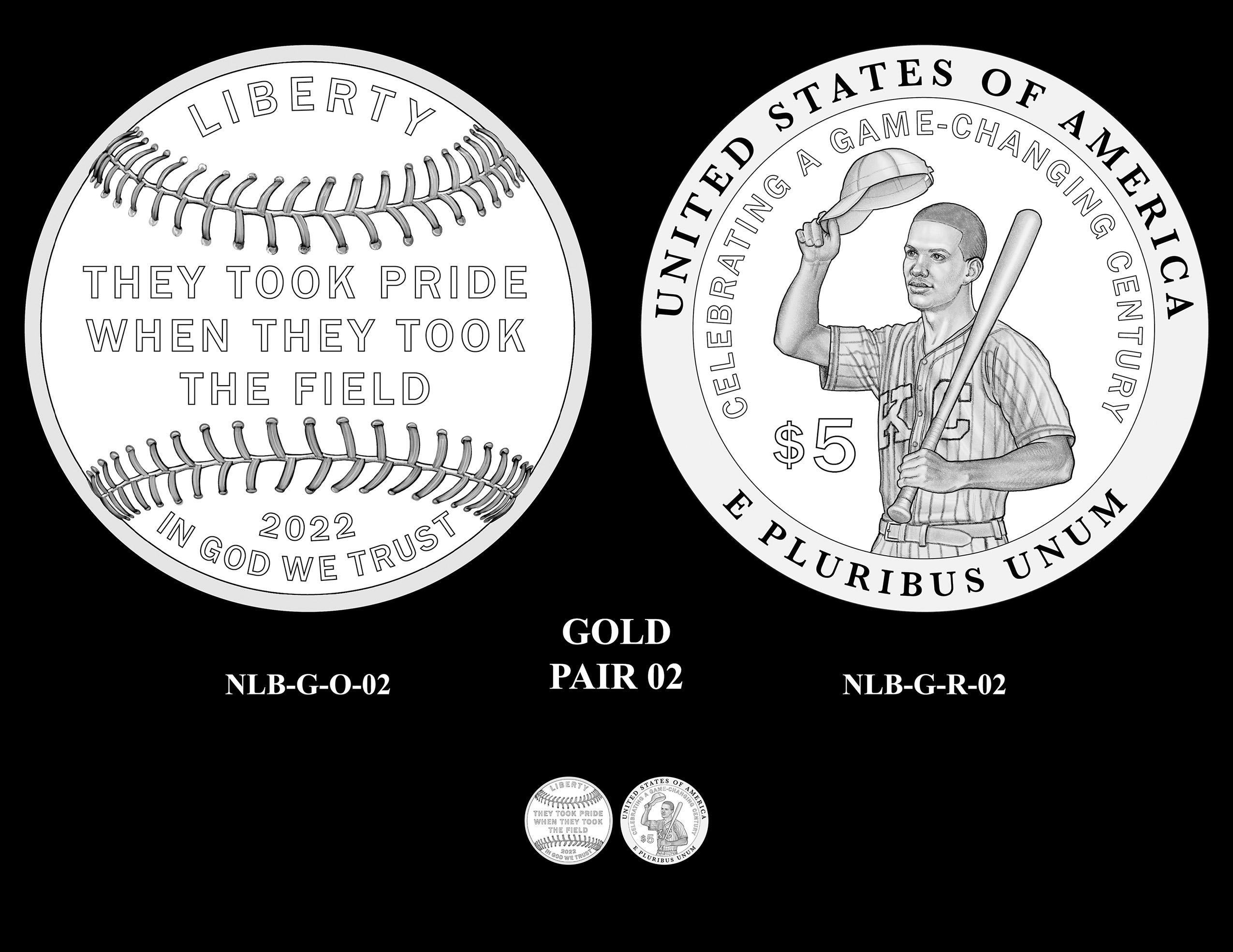 Gold Pair 02 -- Negro Leagues Baseball Commemorative Coin Program